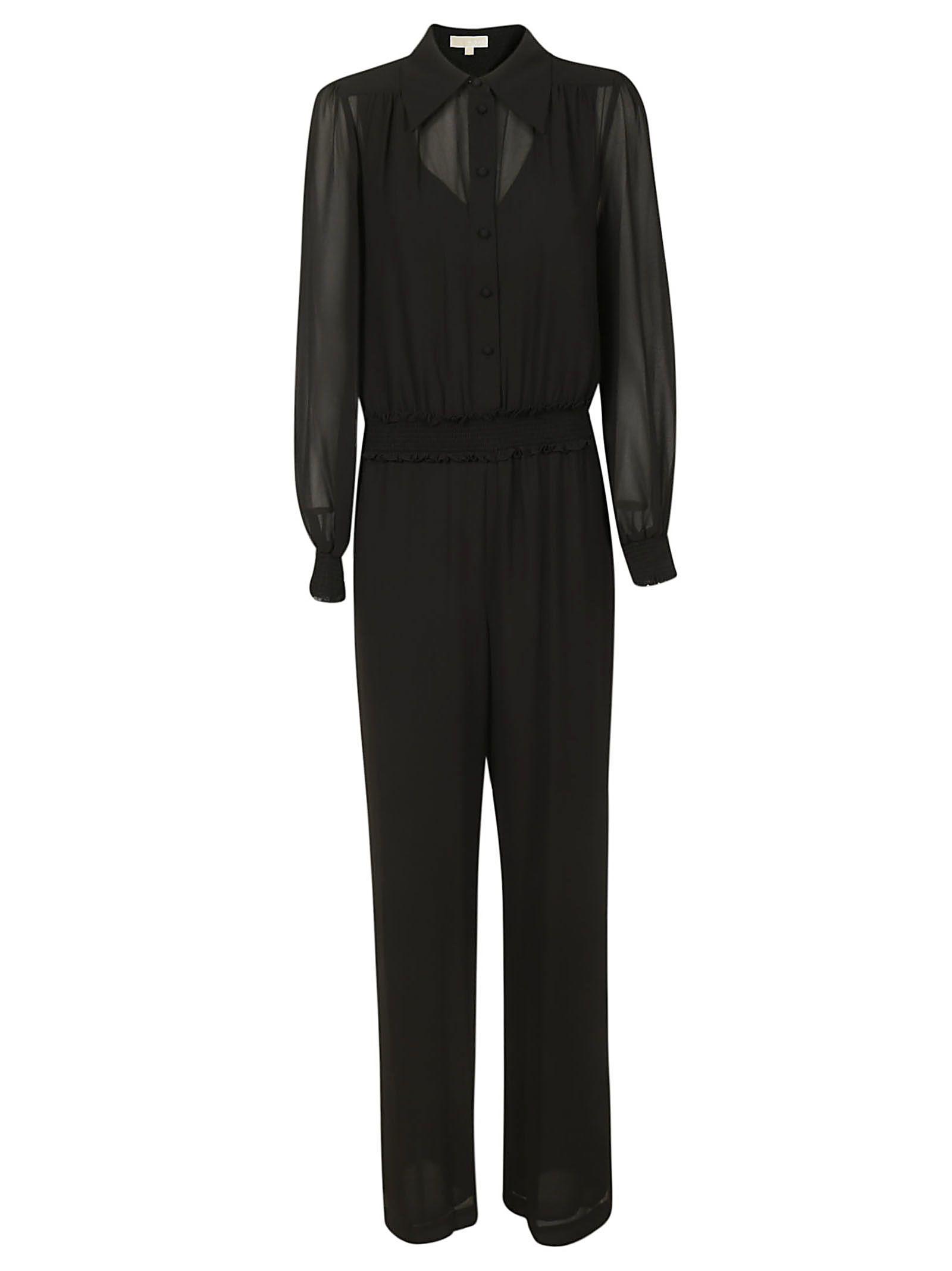 Michael Kors Sheer Sleeves Jumpsuit