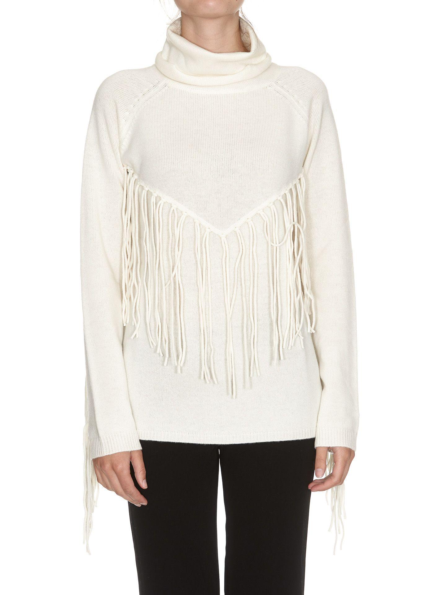 Parosh Lafringe Turtleneck Sweater
