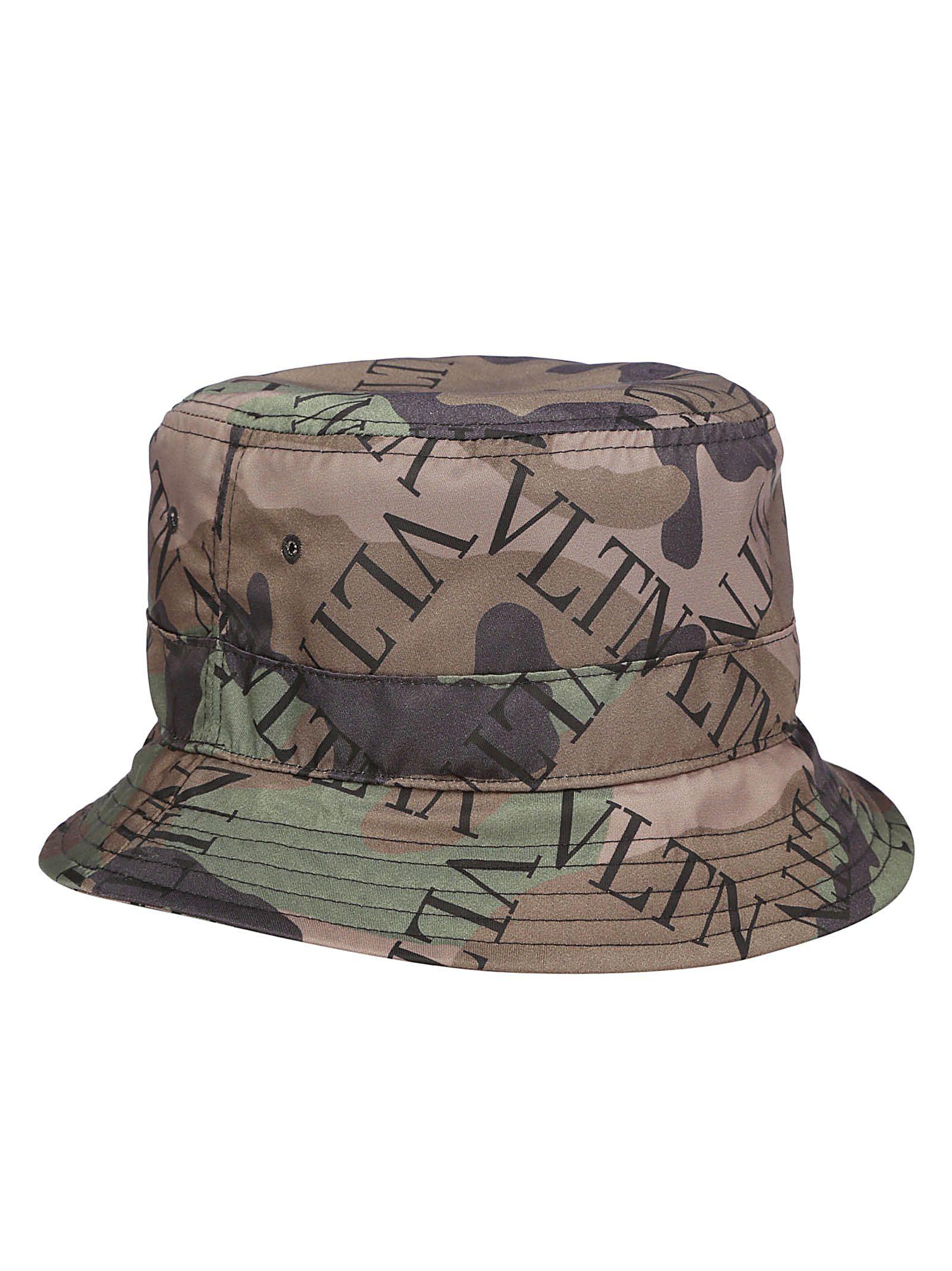 Valentino Bucket Hat In Army Green Brush Wood  0b84a31dbec
