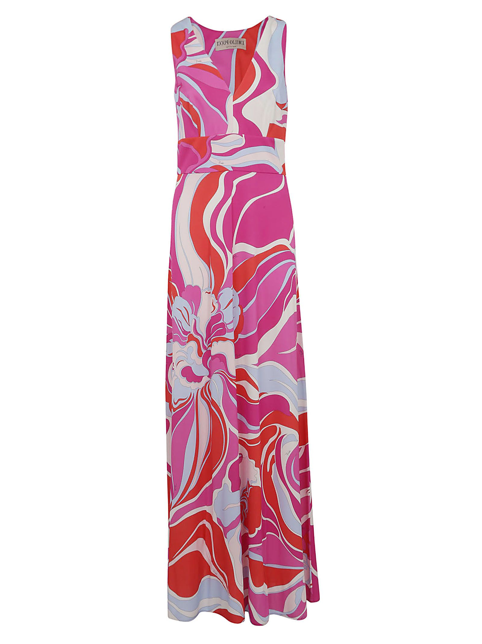 Emilio Pucci Graphic Print Long Dress