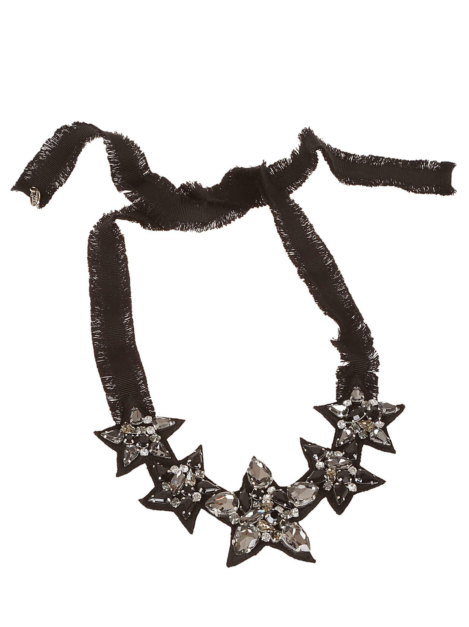 Valentino Red Star-embellished Necklace