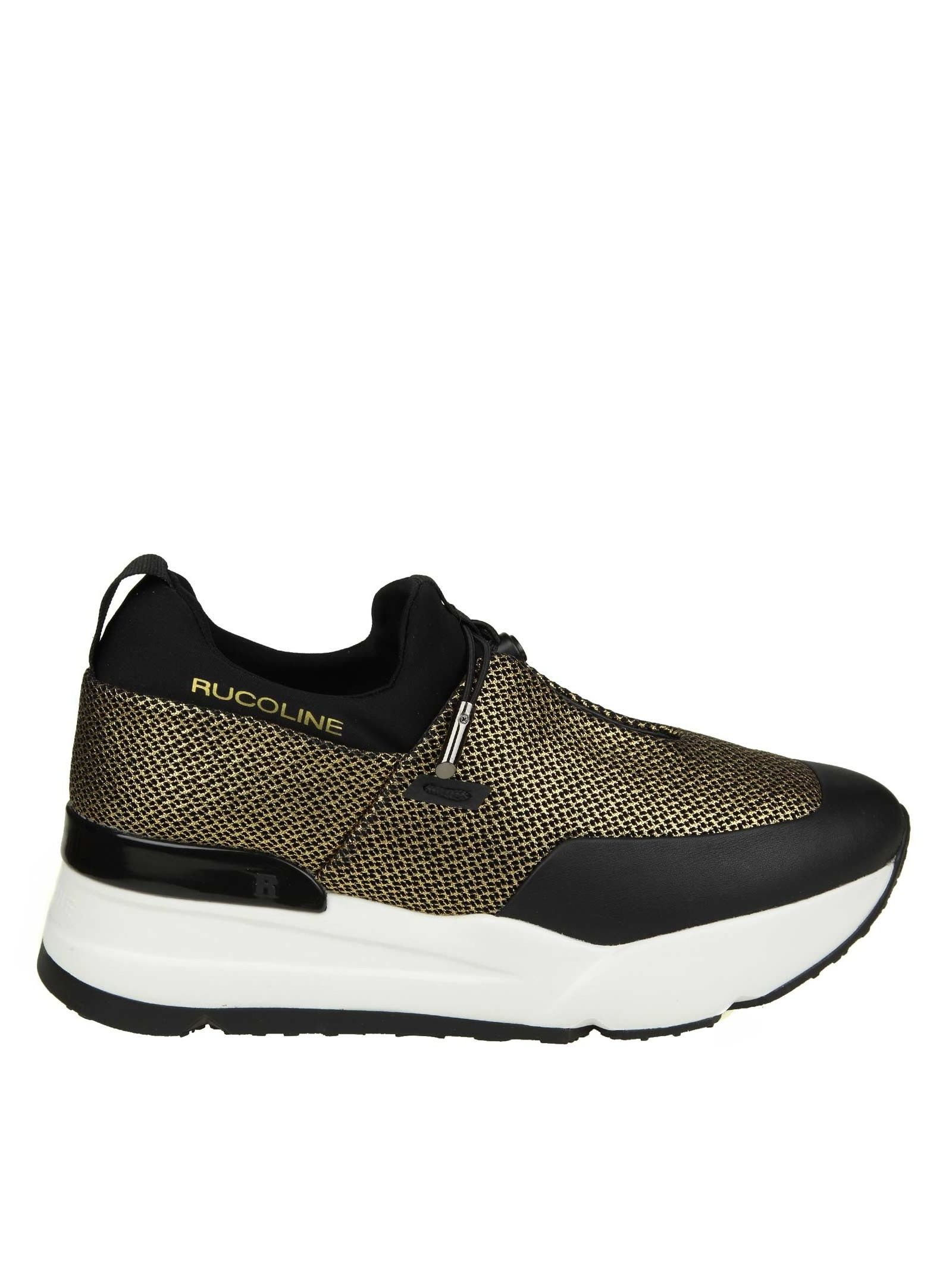 """Rucoline """"essentiel"""" Sneakers In Network And Black And Pink Color"""