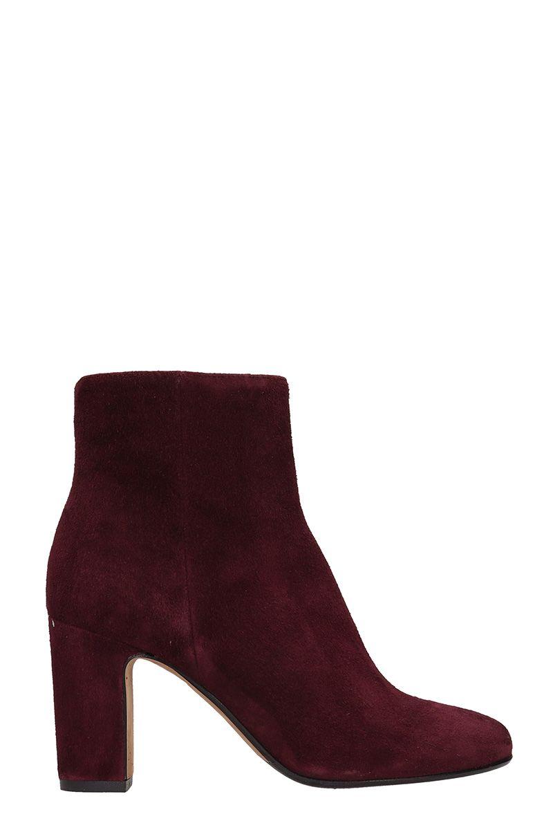 Julie Dee Bordeaux Suede Leather Boots
