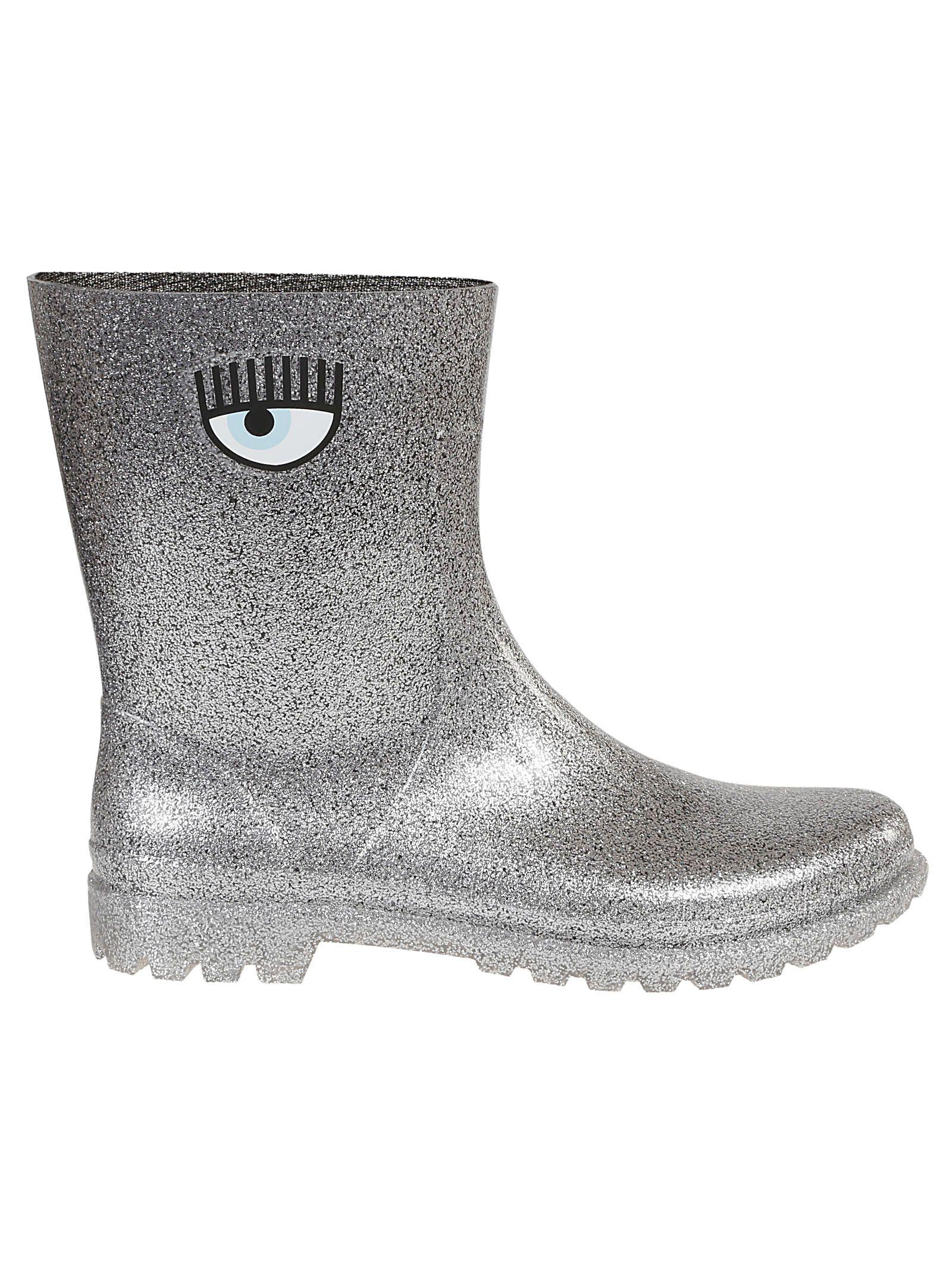 Chiara Ferragni Glittered Coating Eye Boots