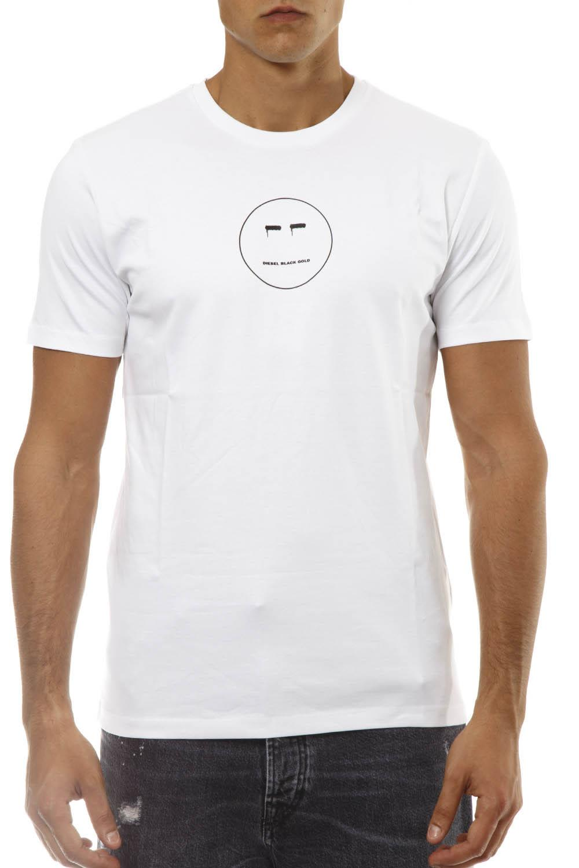 Diesel Black Gold White Smile T-shirt In Cotton