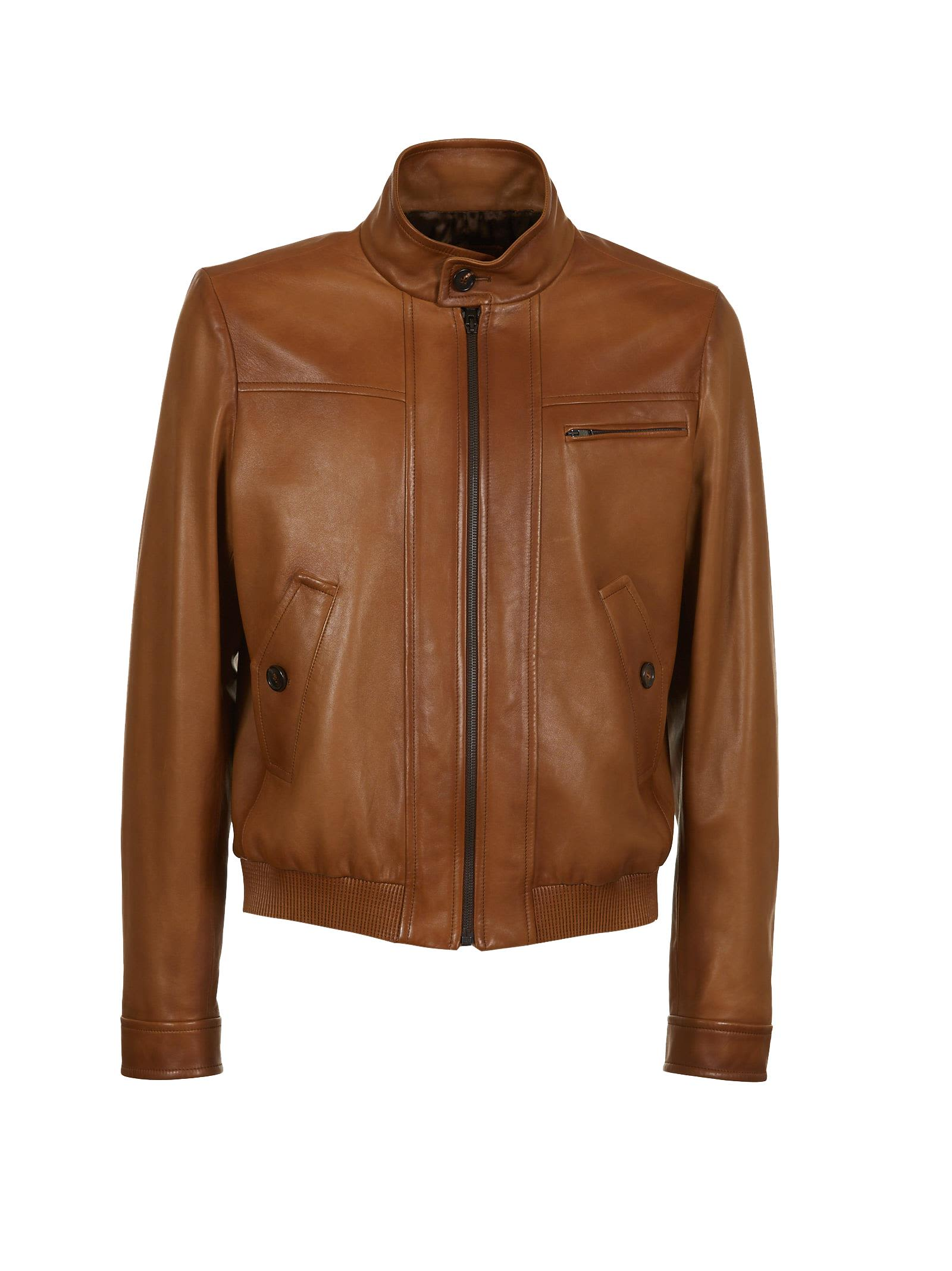 Prada Classic Leather Jacket