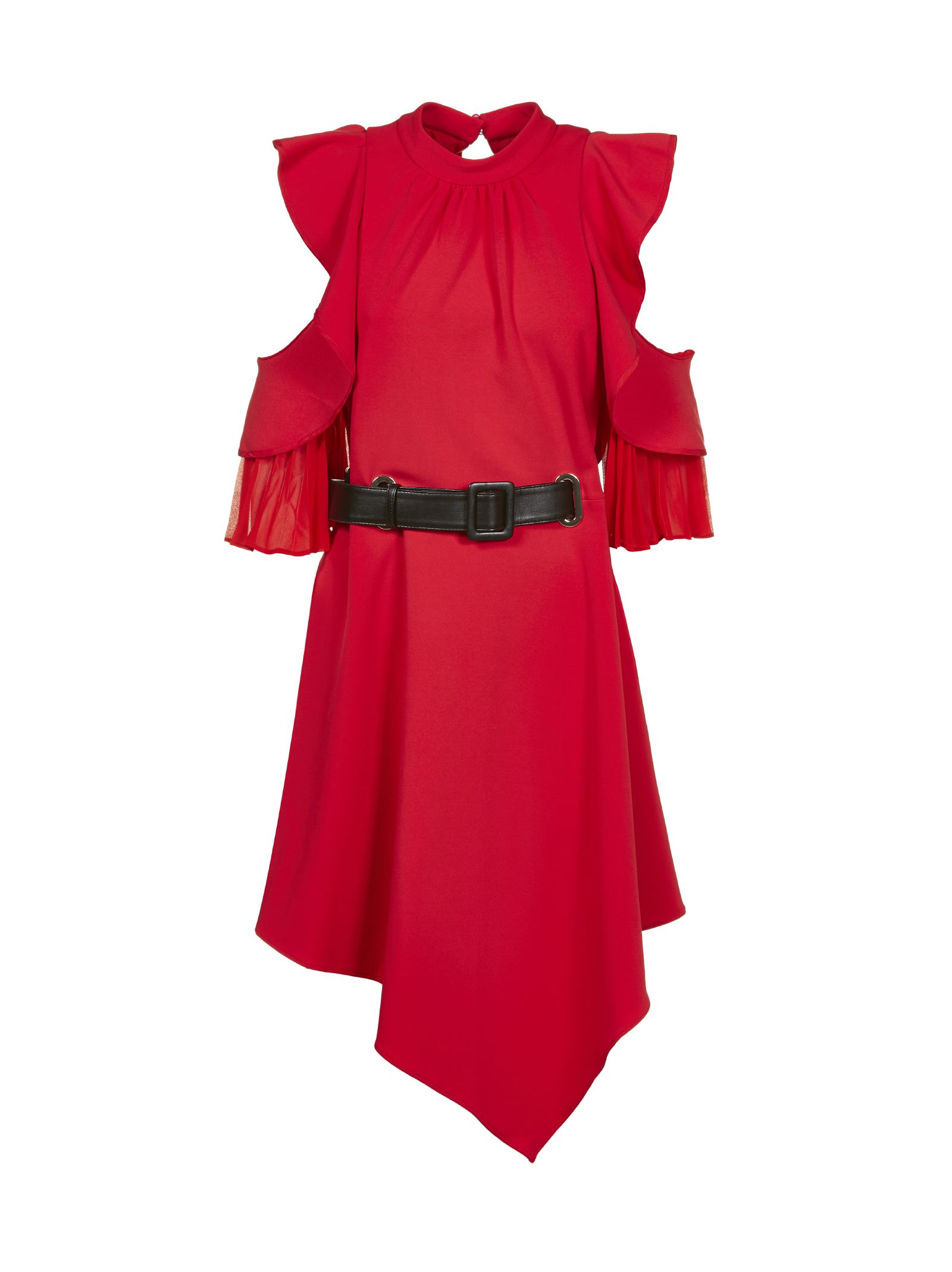 Self Portrait Asymmetric Ruffled Dress
