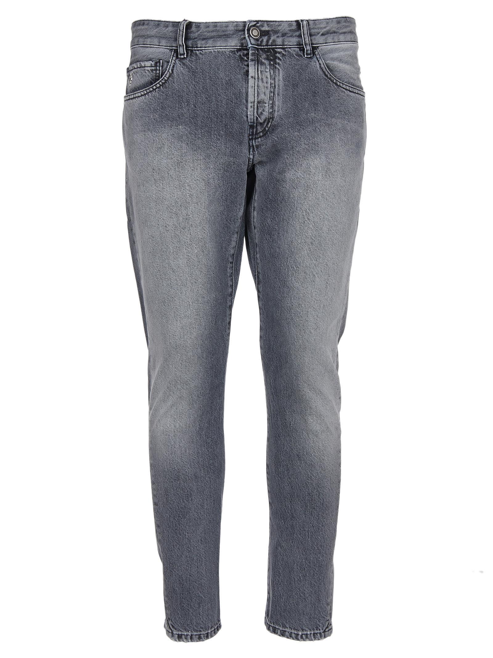 Marcelo Burlon Cropped Faded Jeans