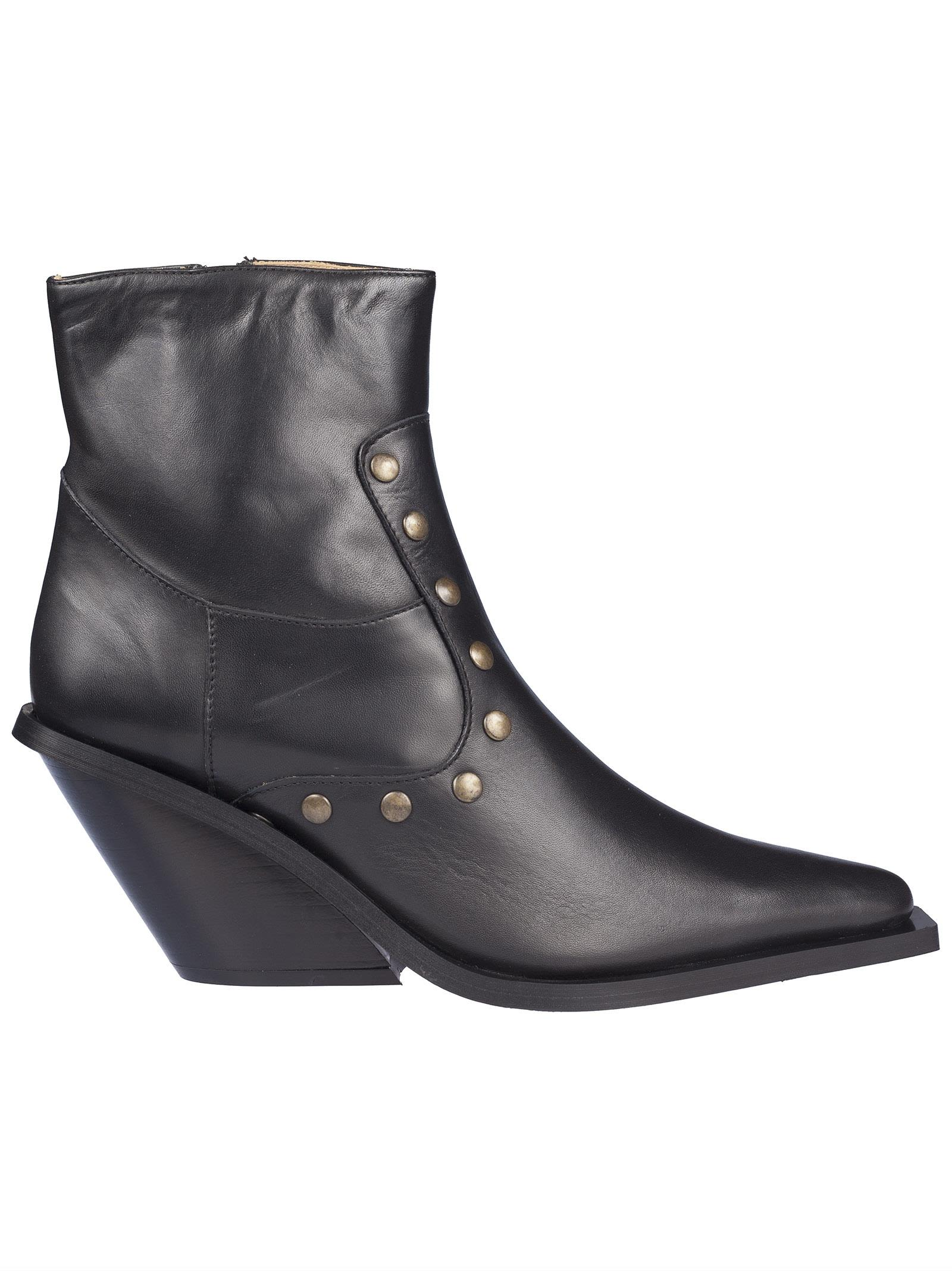 Gia Couture Studded Ankle Boots