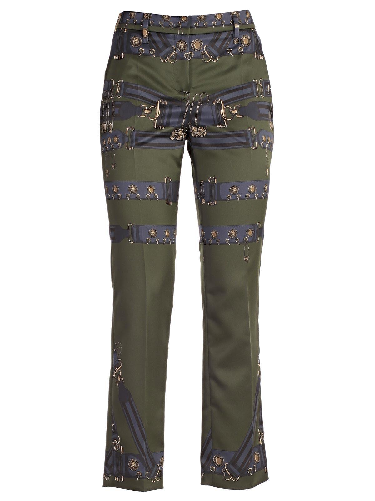 Versus Versace Strap Print Skinny Trousers