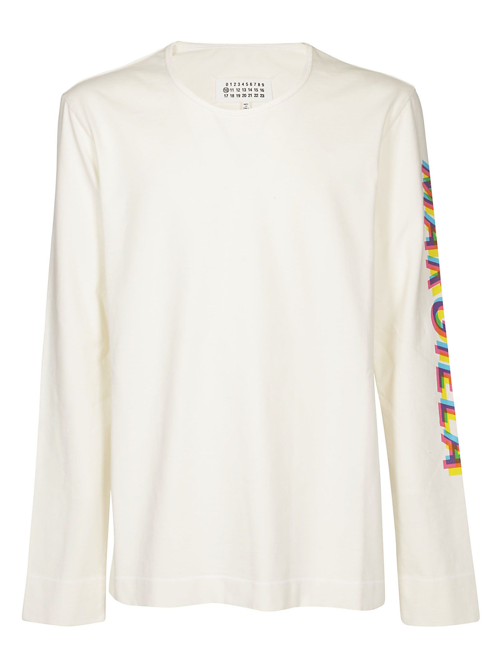 Maison Margiela Sleeve Logo Print Long-sleeved T-shirt