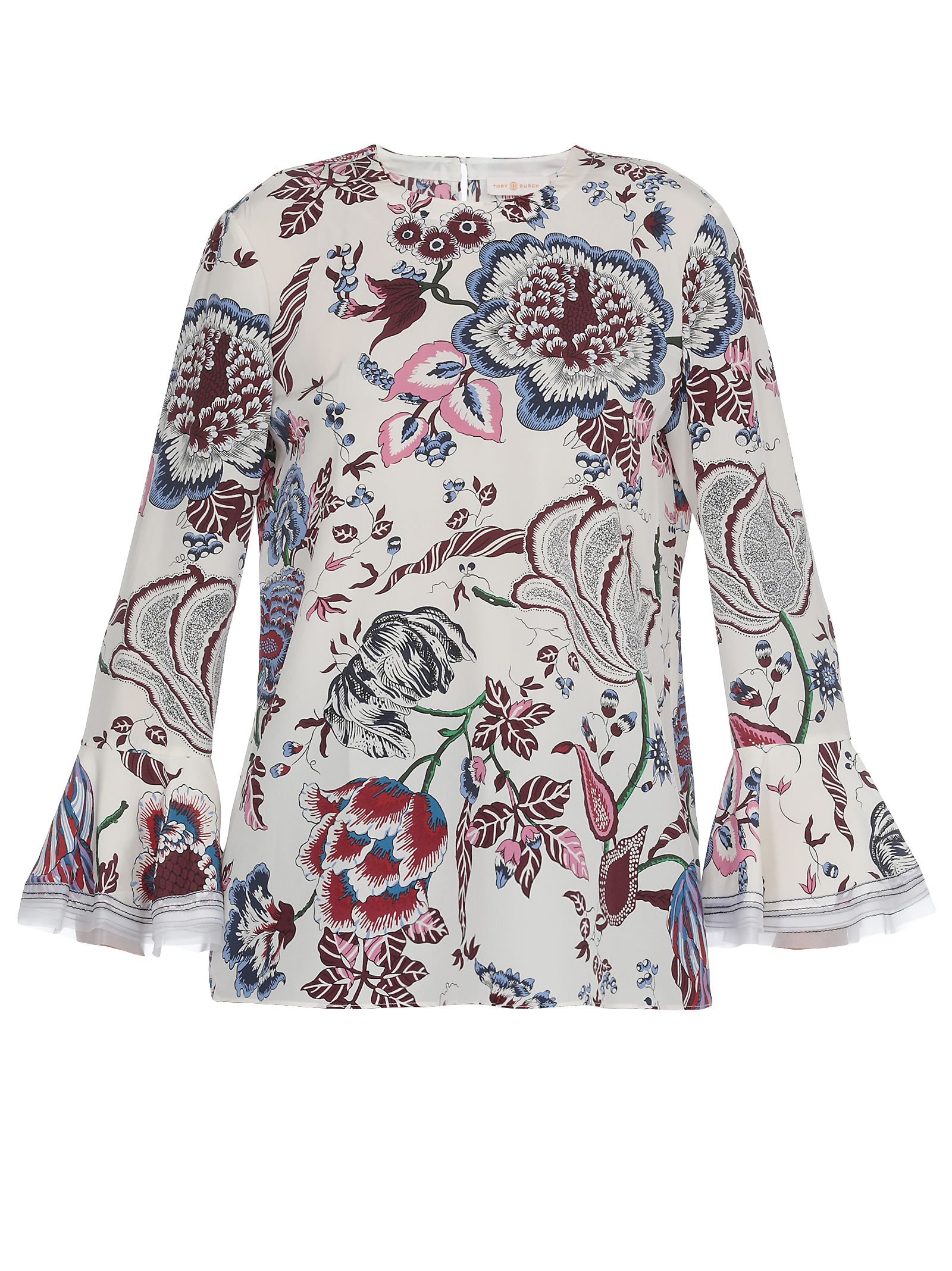 Tory Burch Happy Times Ruffle Sleeves Blouse