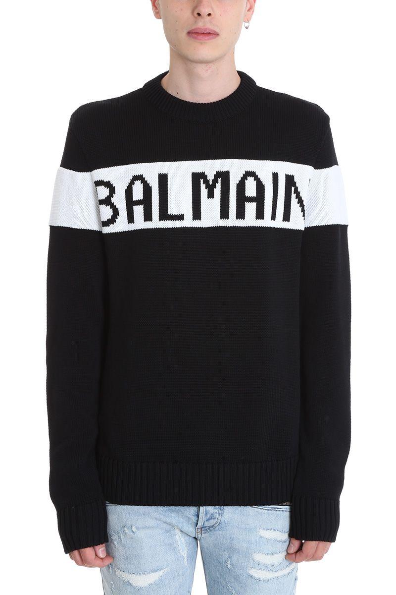 Balmain Black Wool Sweater