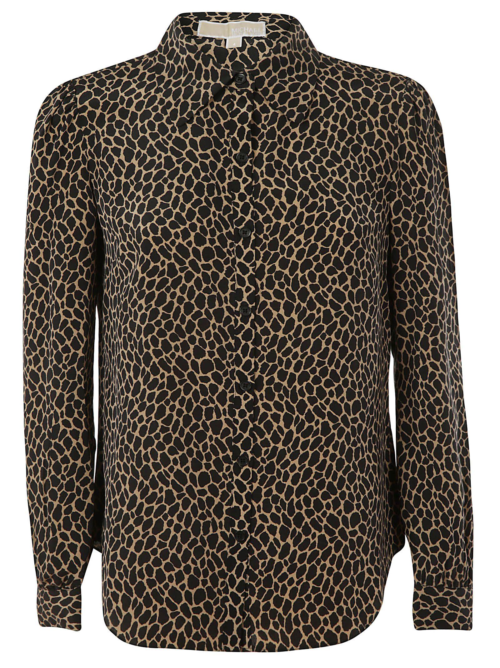 Michael Kors Leopard Print Fitted Shirt