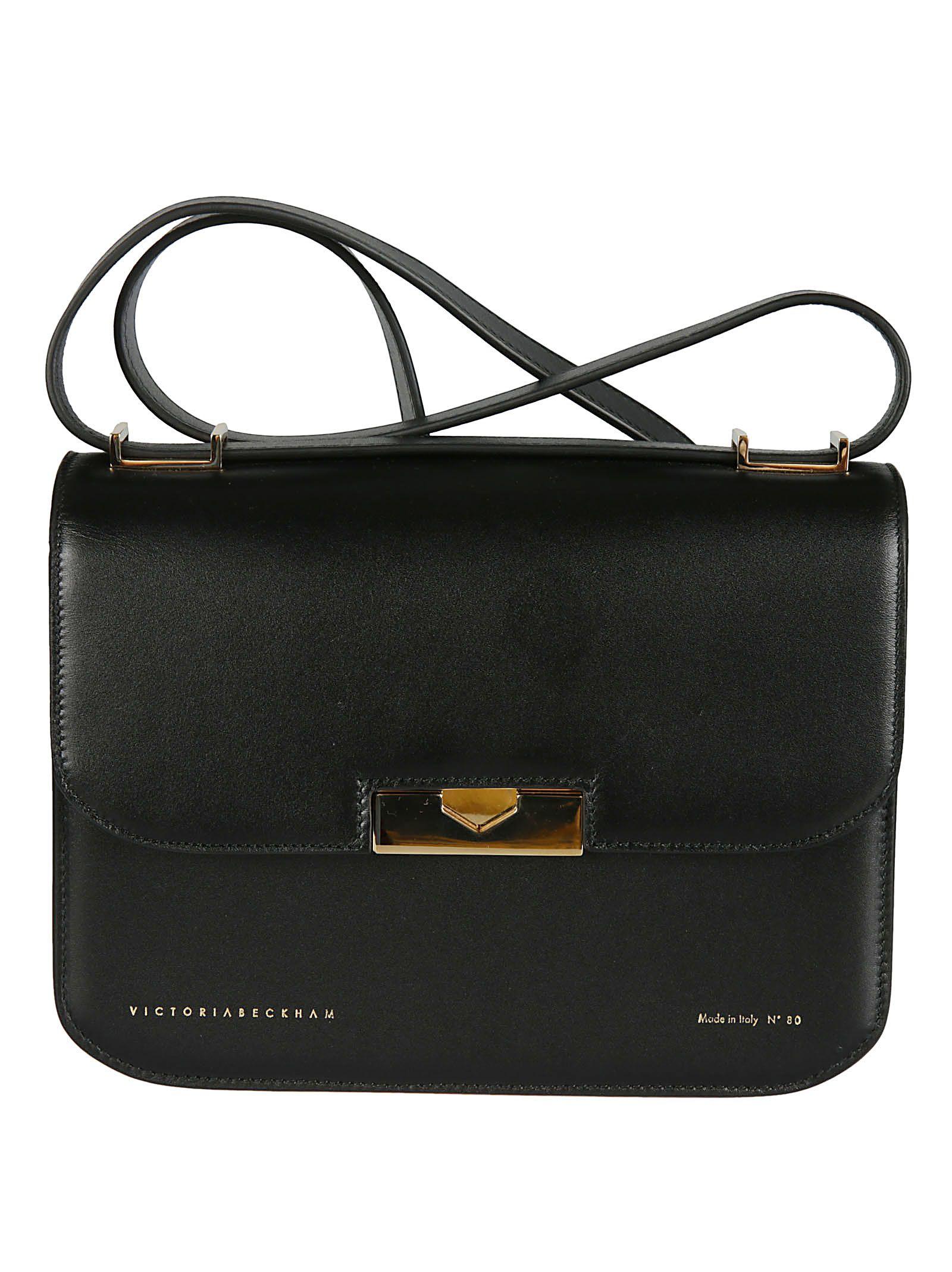 Eva Foldover Shoulder Bag in Black