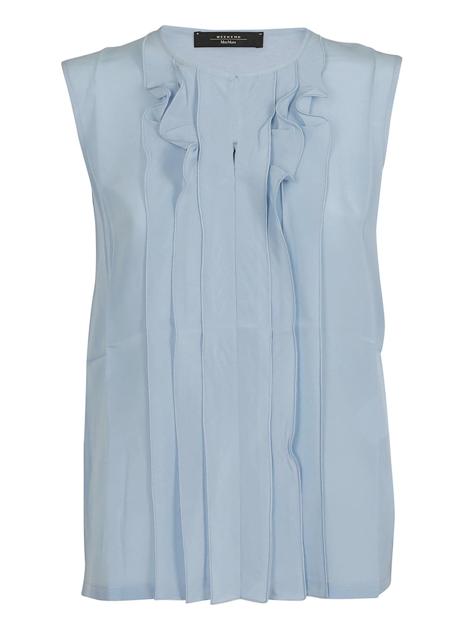 Weekend Max Mara Ruffle-detailed Sleeveless Blouse