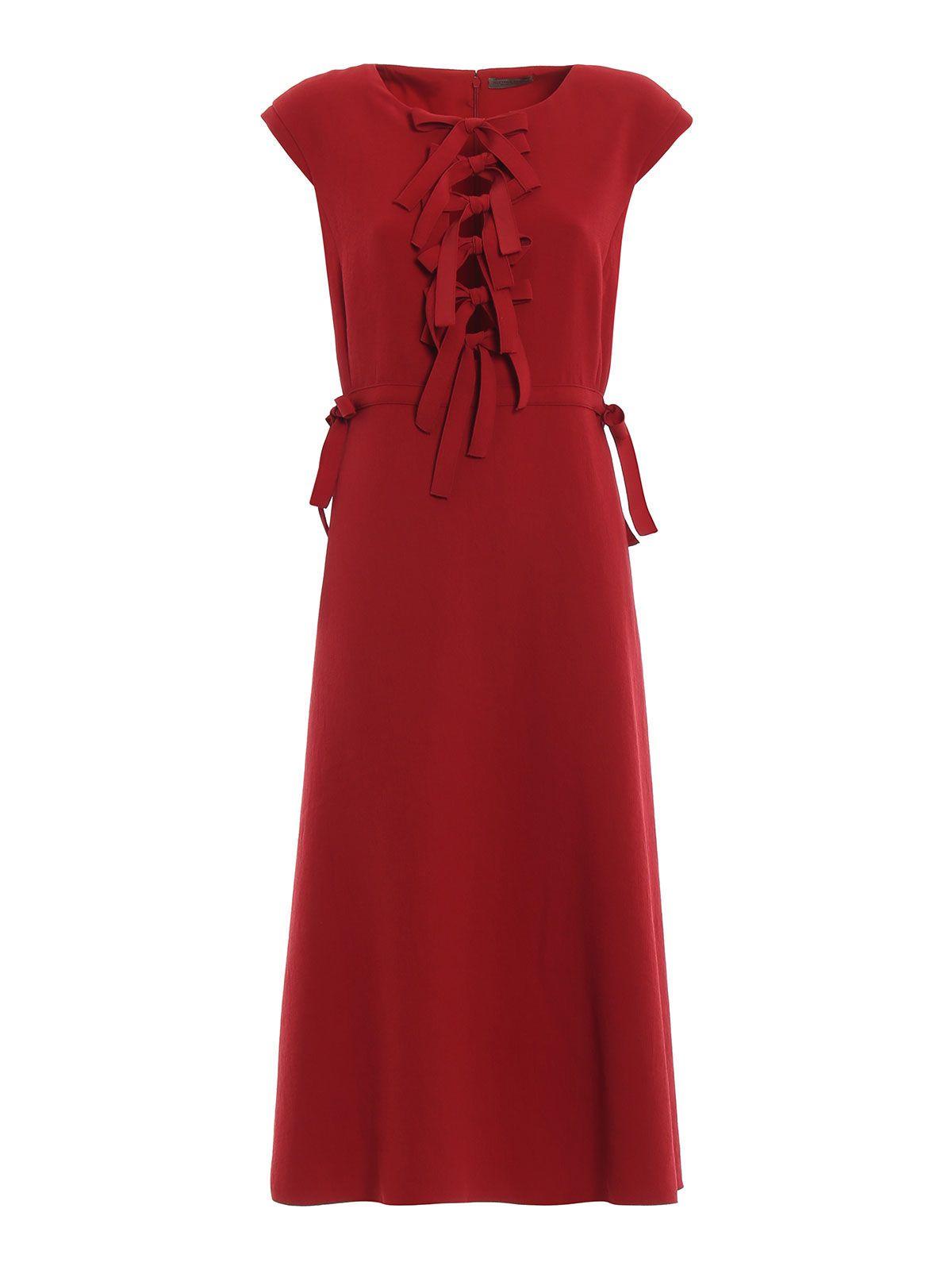 Bottega Veneta Bow Front Midi Dress