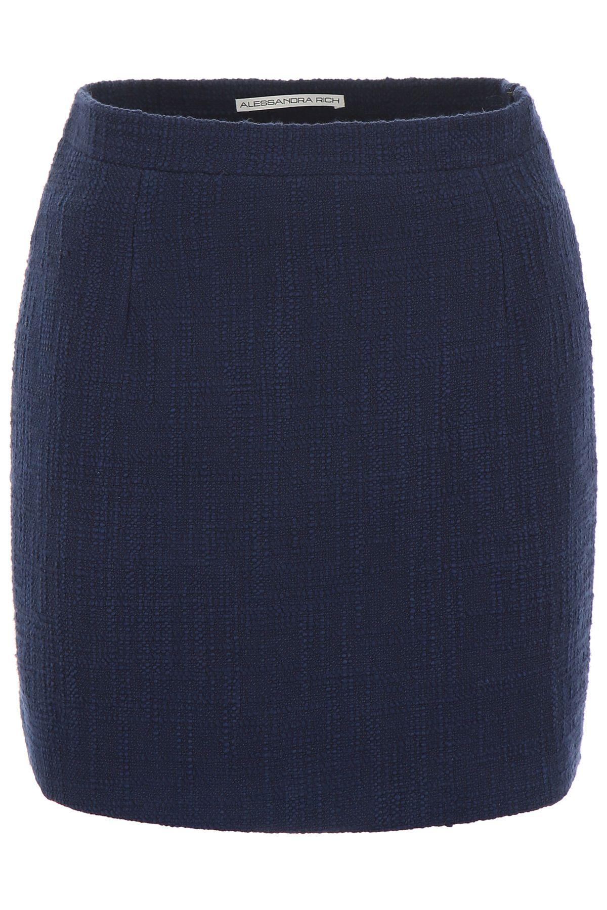 Alessandra Rich Skirts TWEED SKIRT