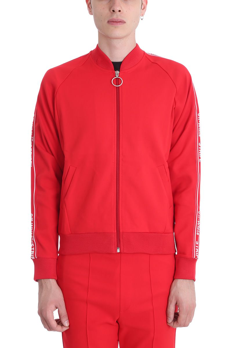Off-White Red Cotton Sweatshirt