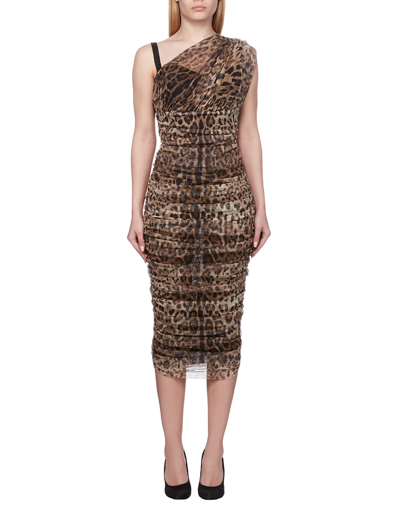 Dolce & Gabbana Leopard Ruched Dress