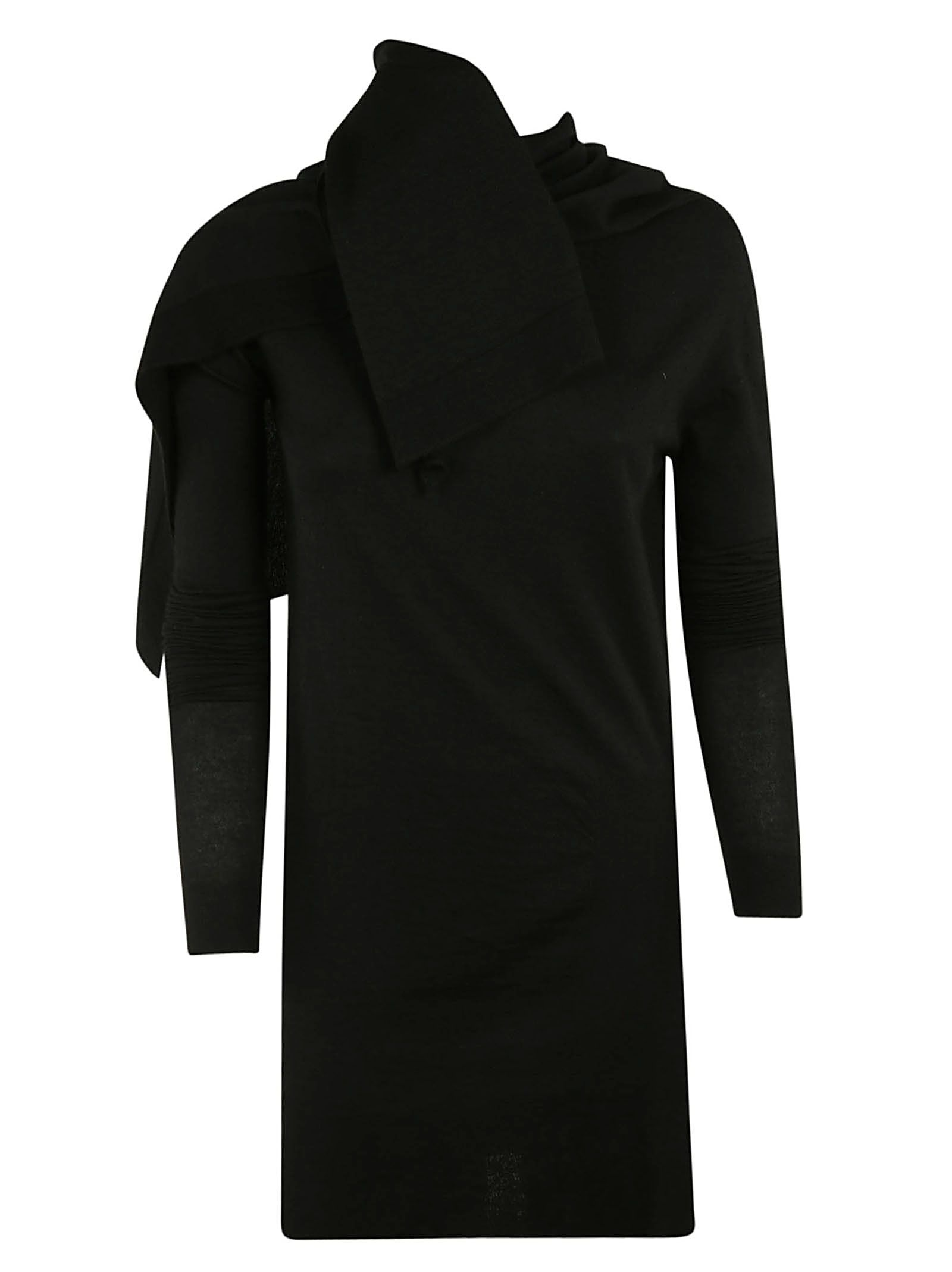 Rick Owens Cape Detailed Sweater