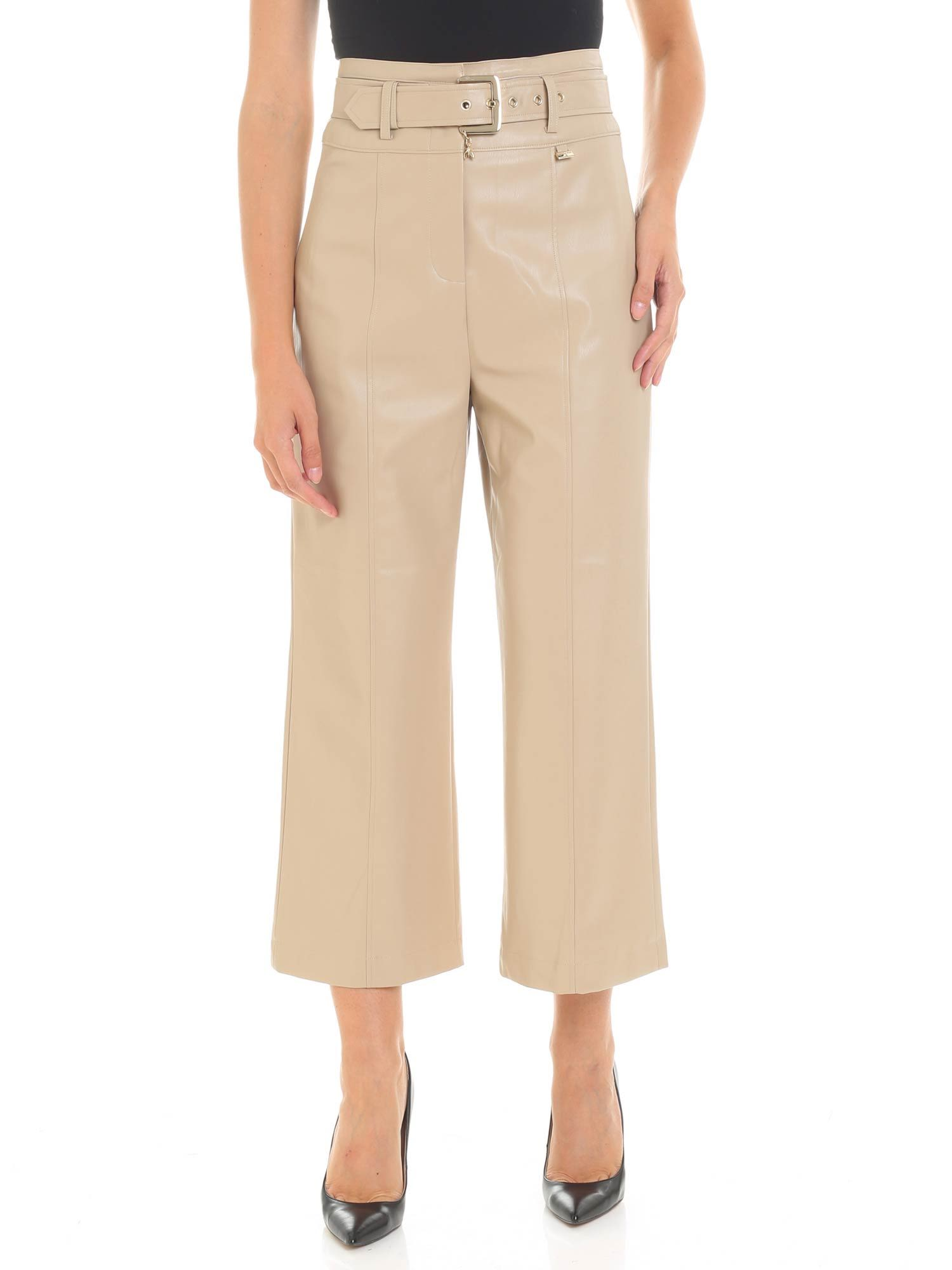 Patrizia Pepe Cropped Faux Leather Trousers