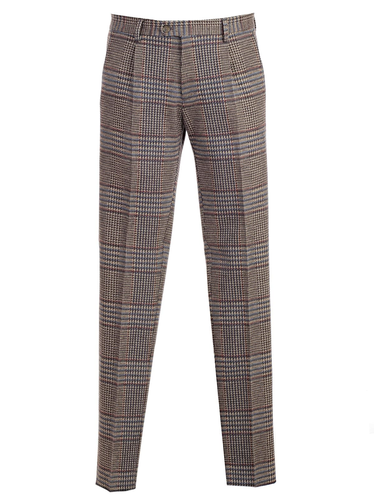 Etro Checked Button Trousers