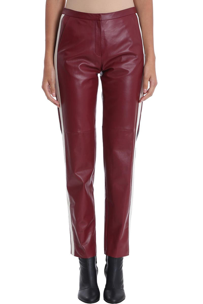 DROMe Side Band Leather Trousers