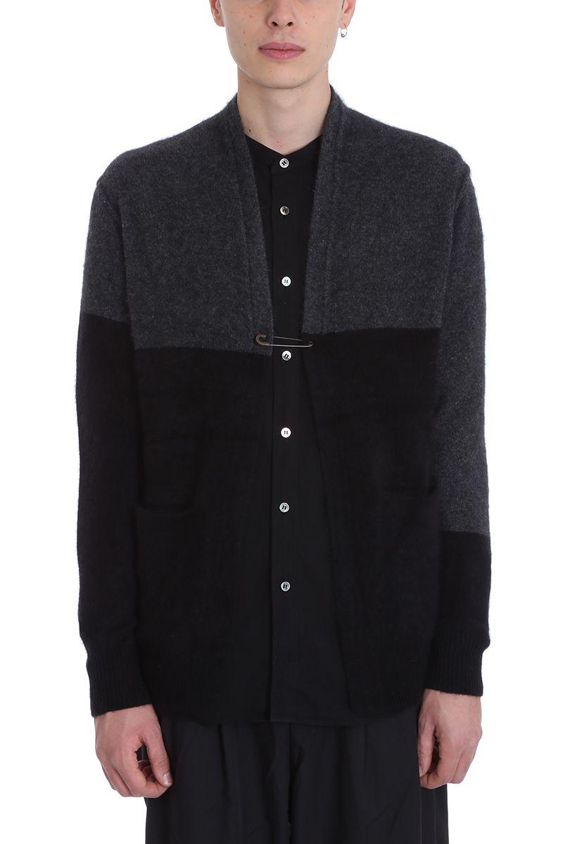 Attachment Black/grey Wool Cardigan
