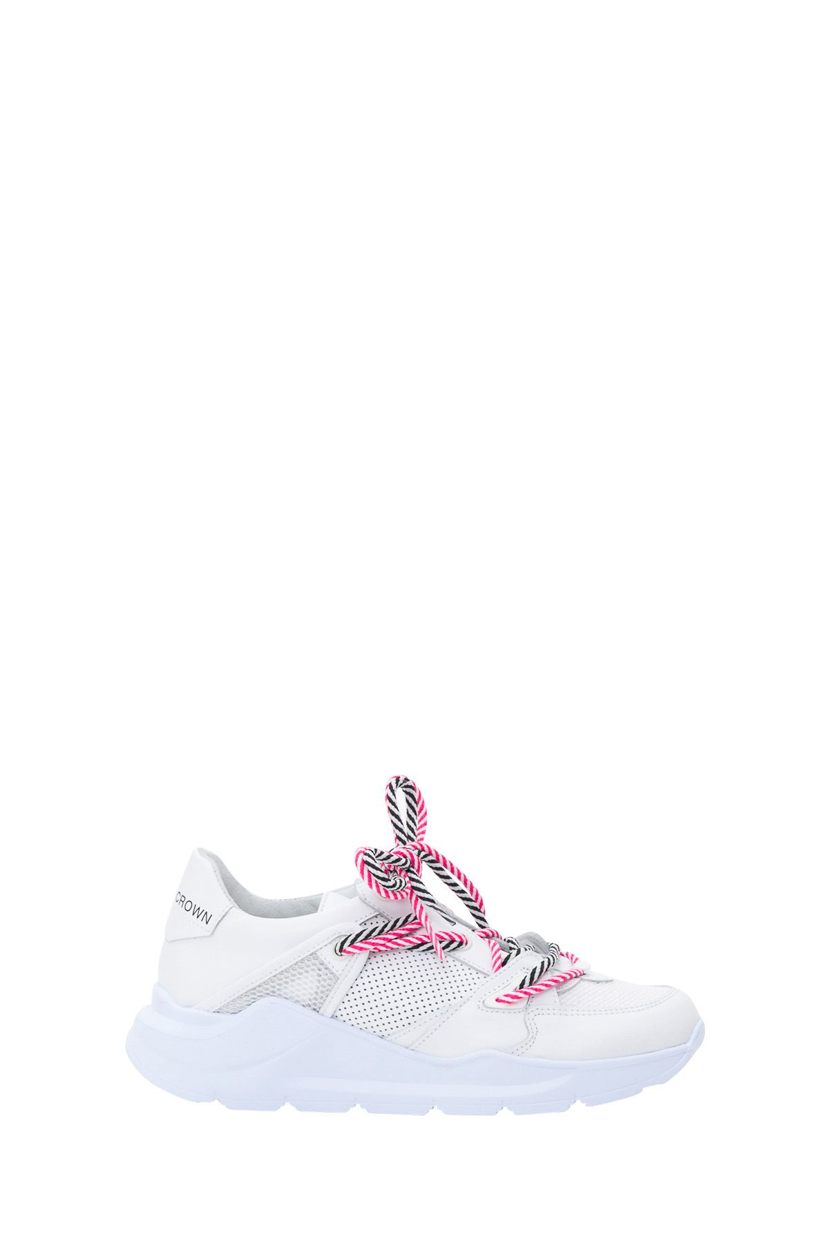 Leather Crown Border Line Sneakers