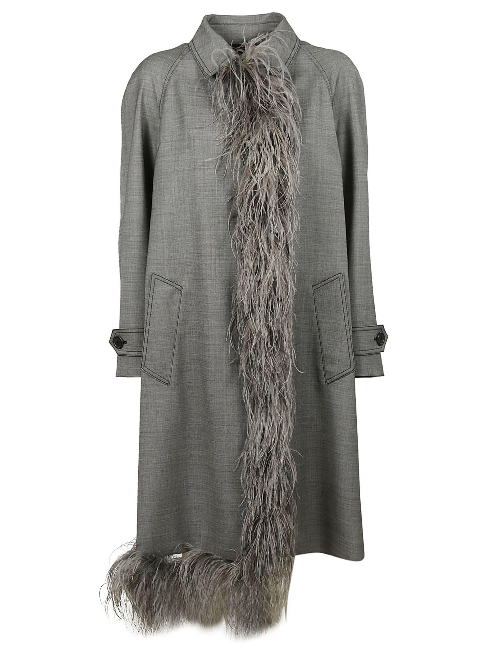 Prada Grisagli Stretch Coat