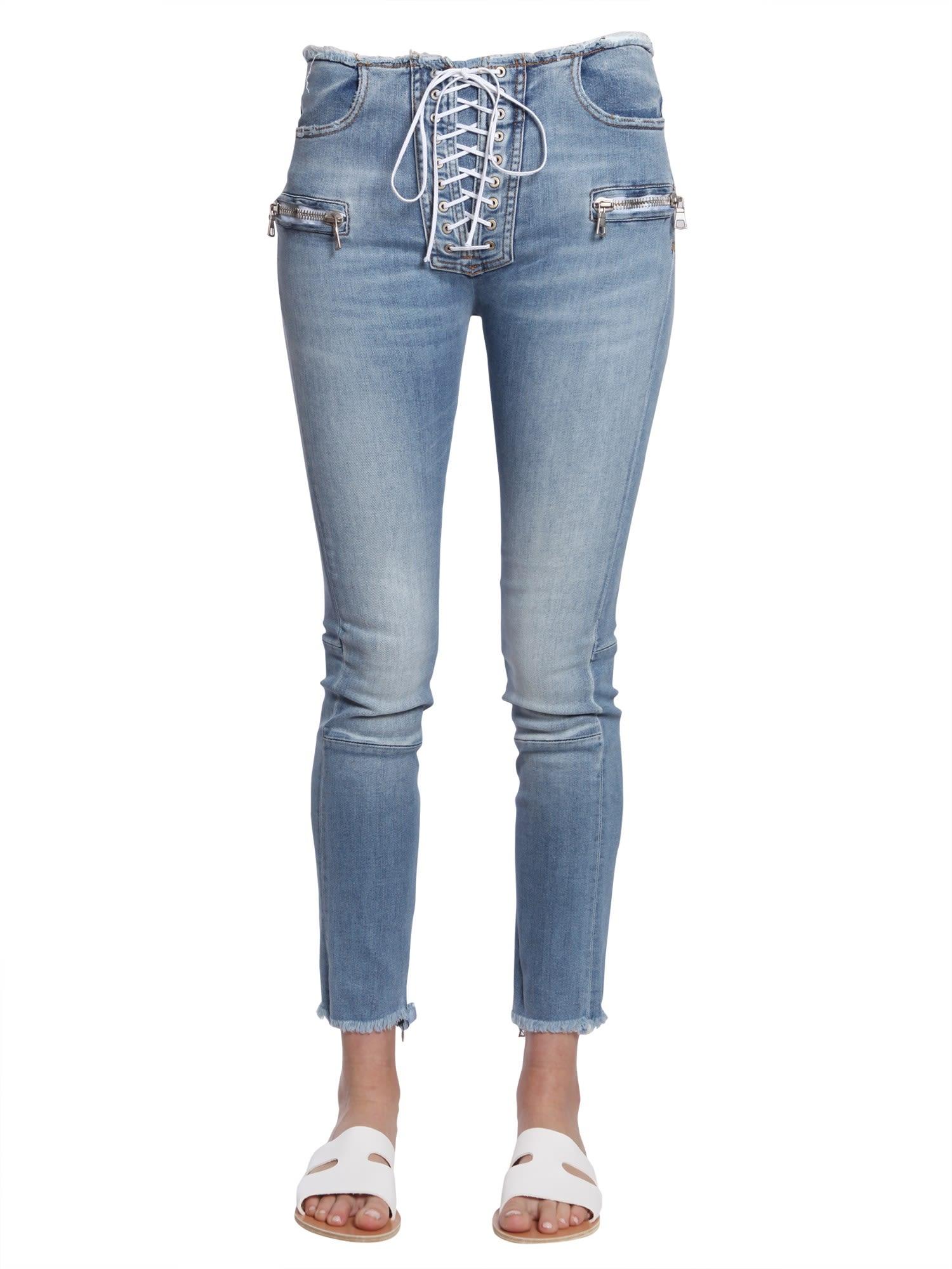 Ben Taverniti Unravel Project Laceup Jeans