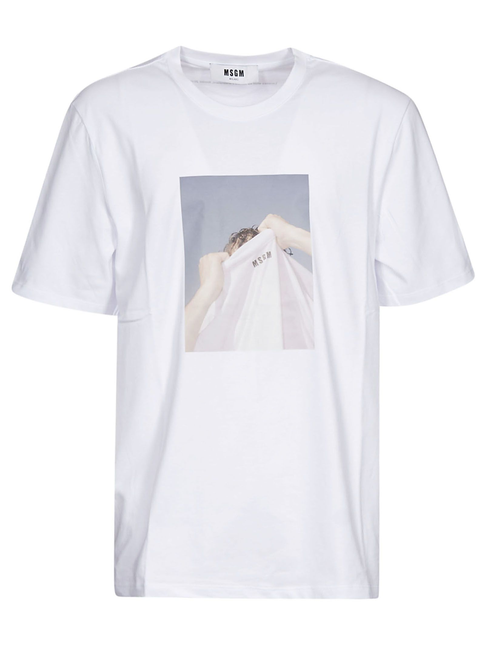 MSGM Graphic Photo Print T-Shirt