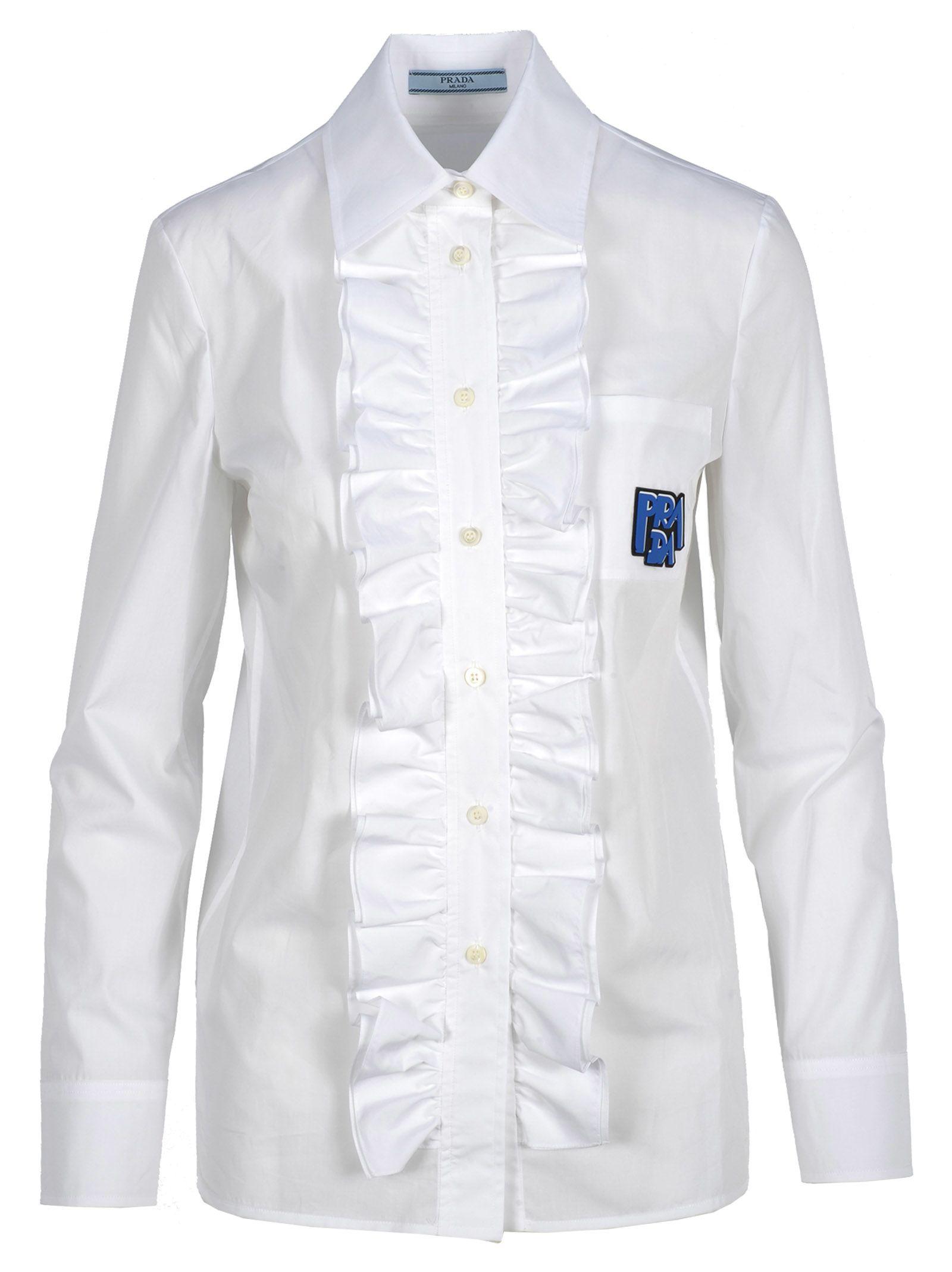 Prada Shirt Ruffle Logo
