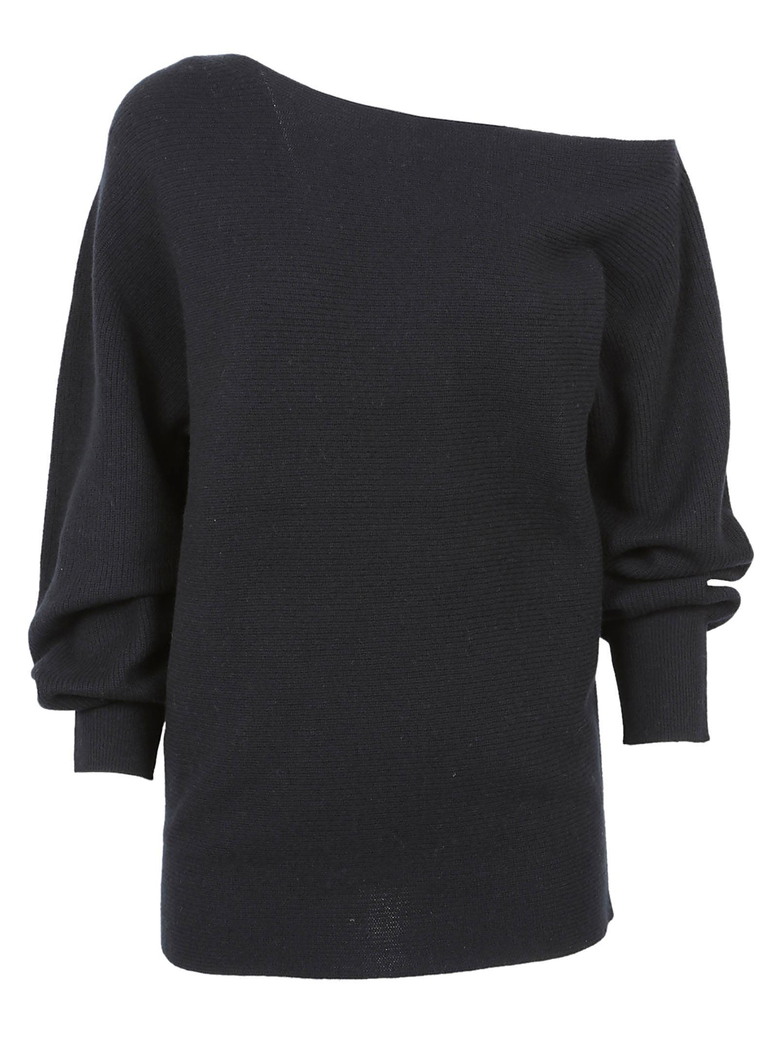 Theory Ribbed One-shoulder Jumper