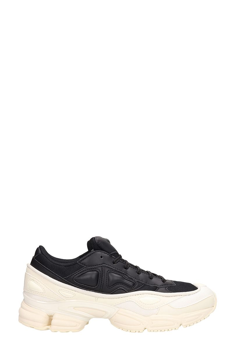 Adidas By Raf Simons Ozweego Black/white Leather Sneakers