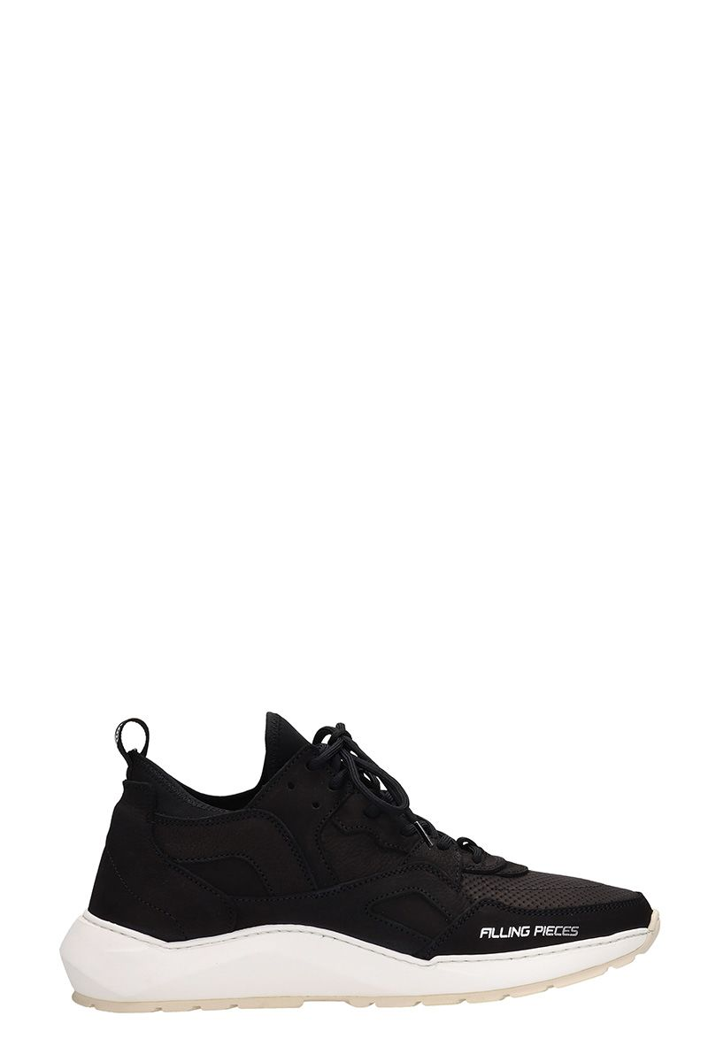 Filling Pieces Origina Low Black Suede Sneakers