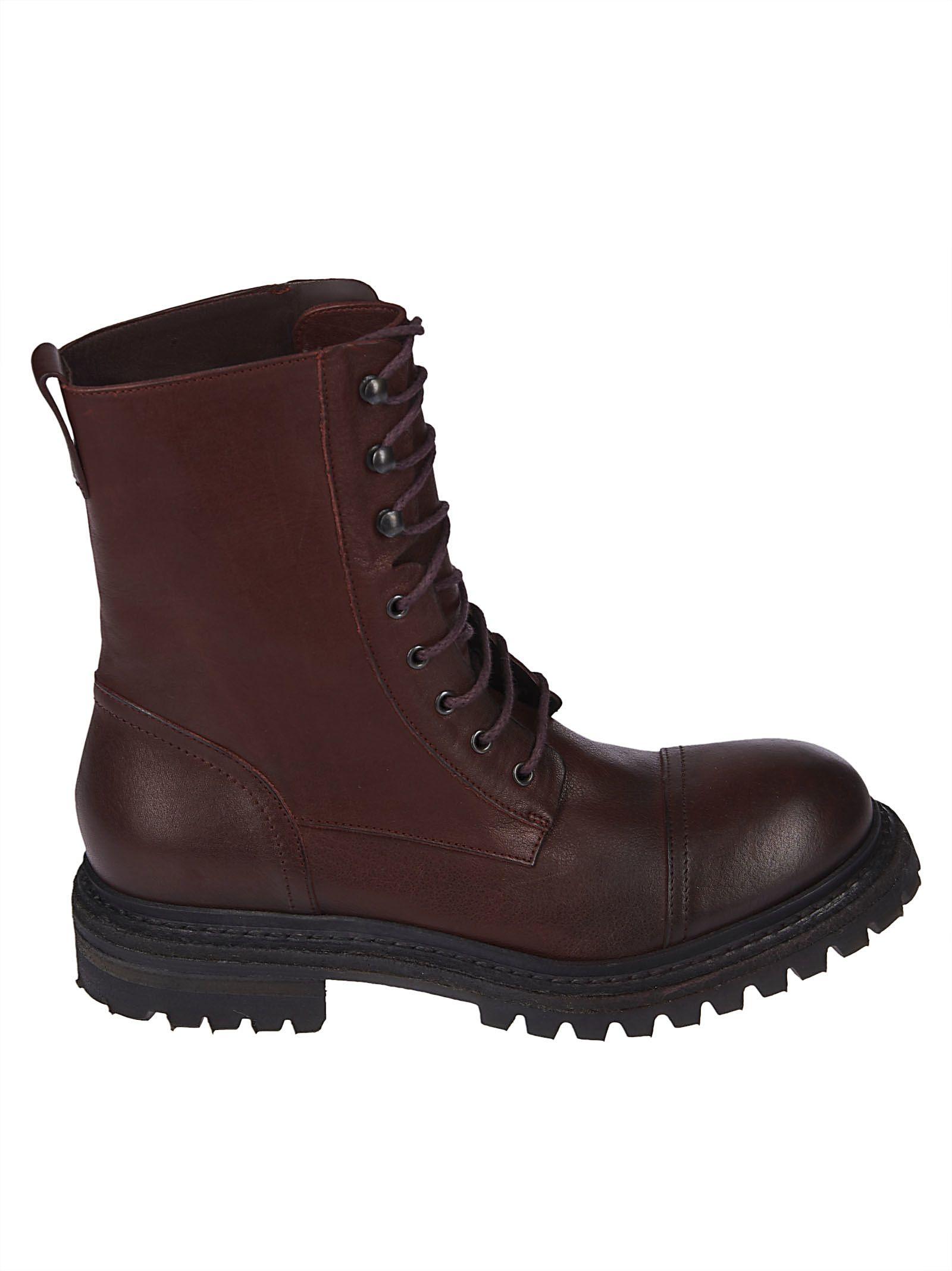 Roberto Del Carlo Classic Combat Boots