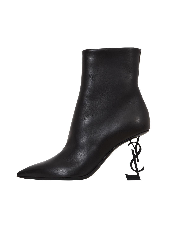 saint laurent -  Black Opyum 85 Ankle Boots