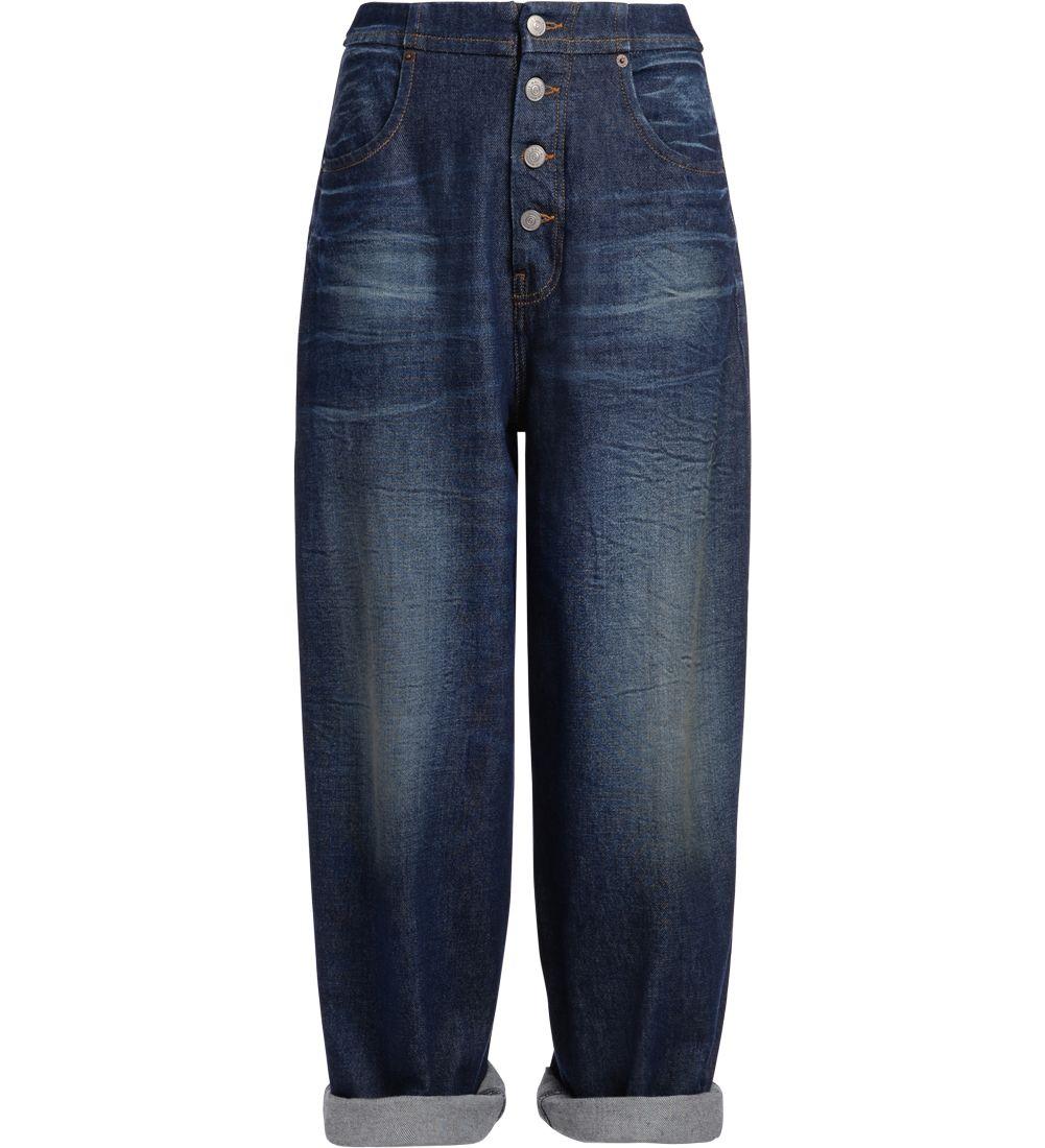 Mm6 Maison Margiela Blue Denim Wide Jeans