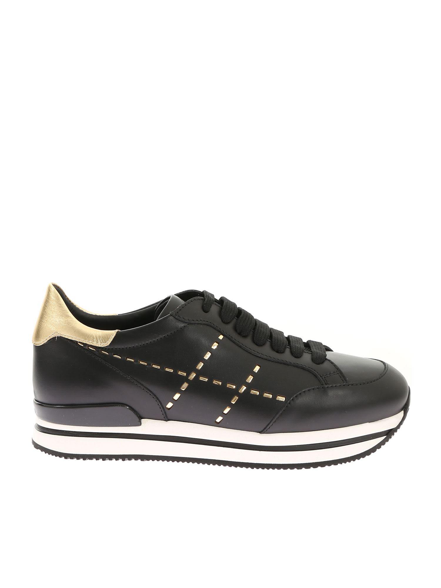 Hogan Metallic Detail Sneakers