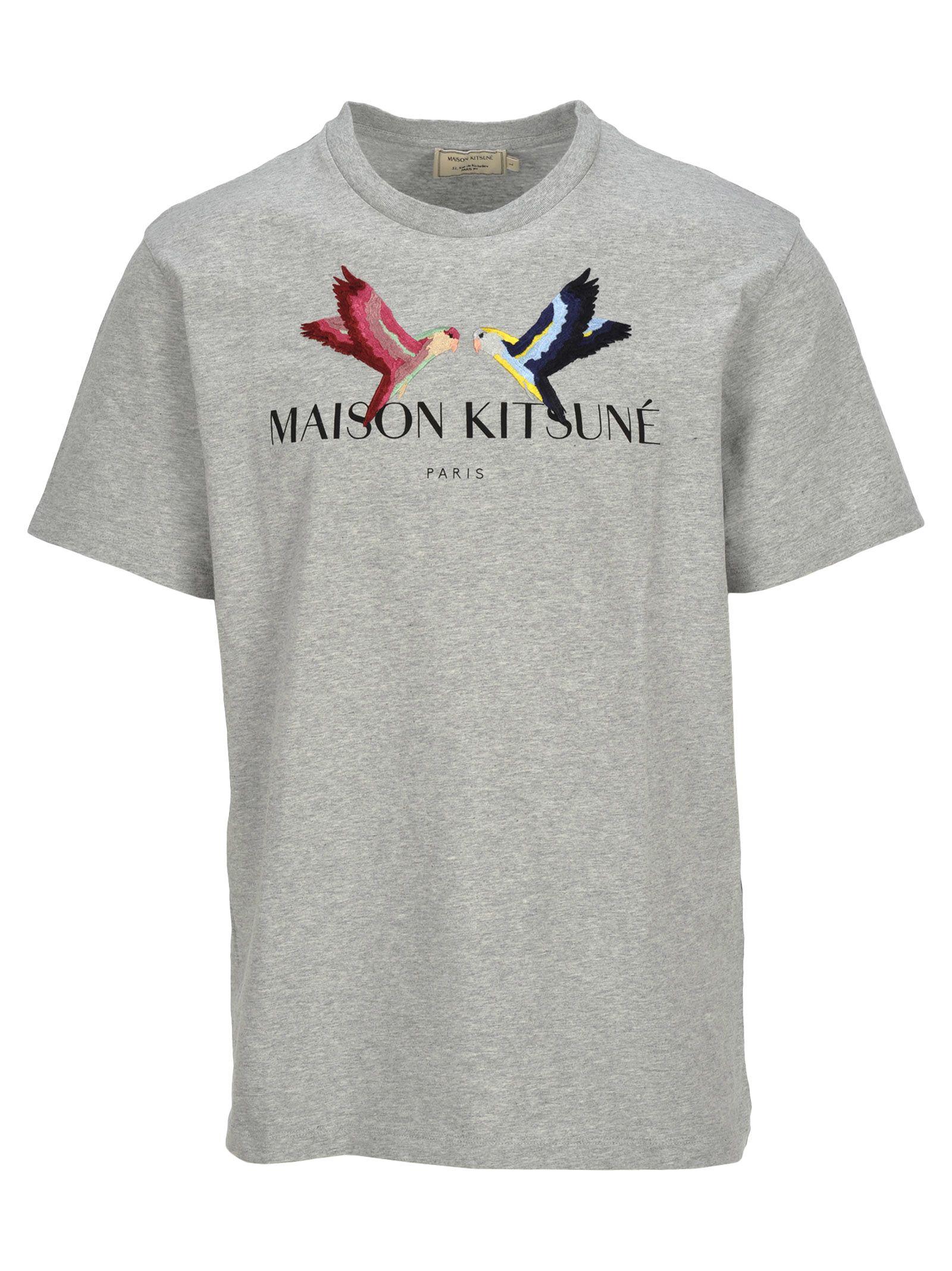 Maison Kitsune Tee-shirt Lovebirds