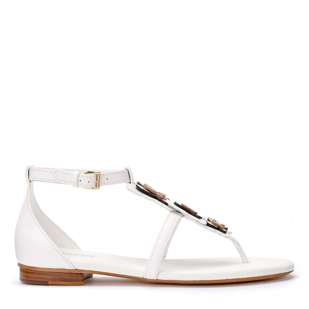 Michael Kors Felicity Thong White Nappa Sandal