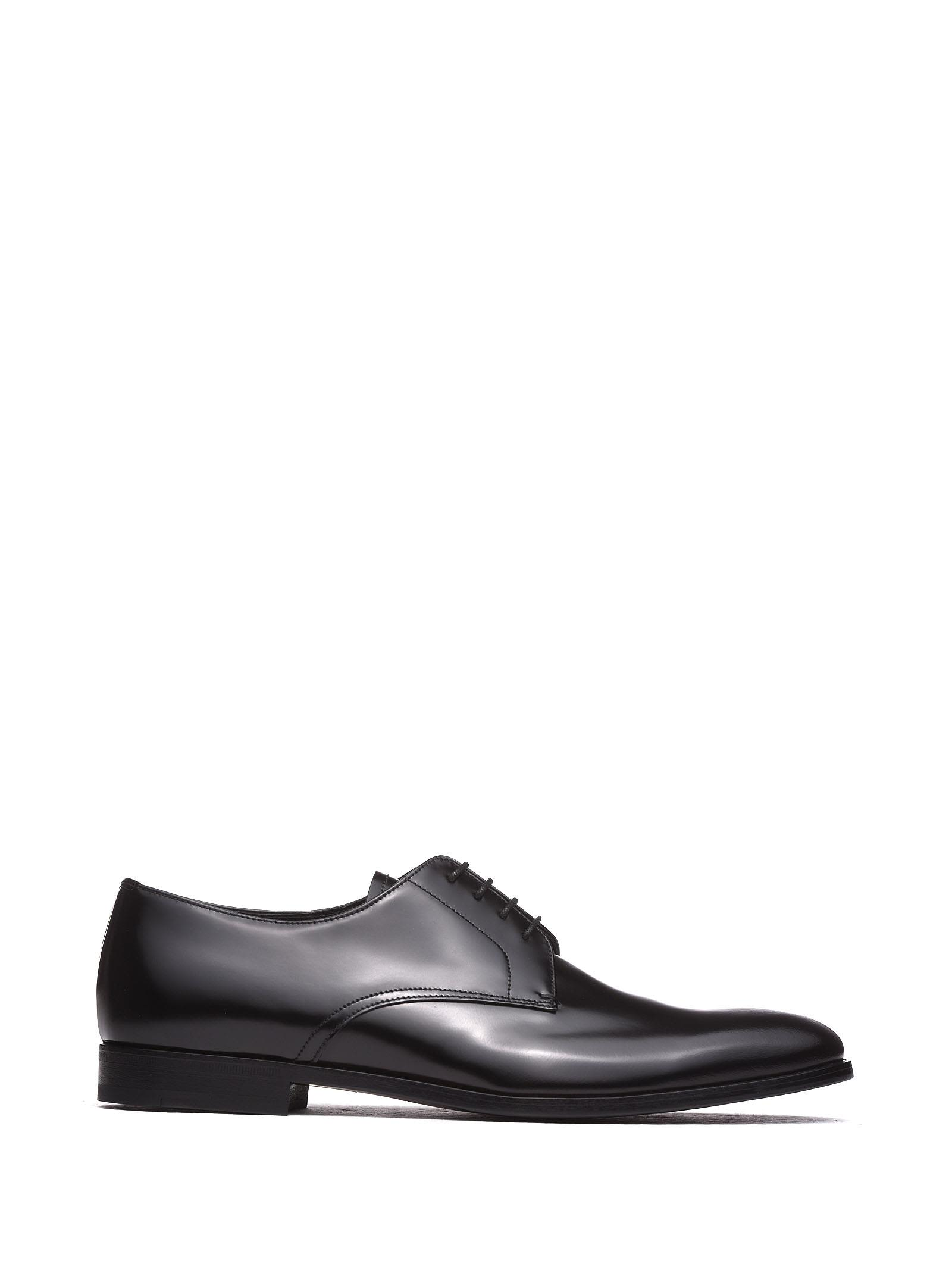 Prada Balck Lace-up Shoes