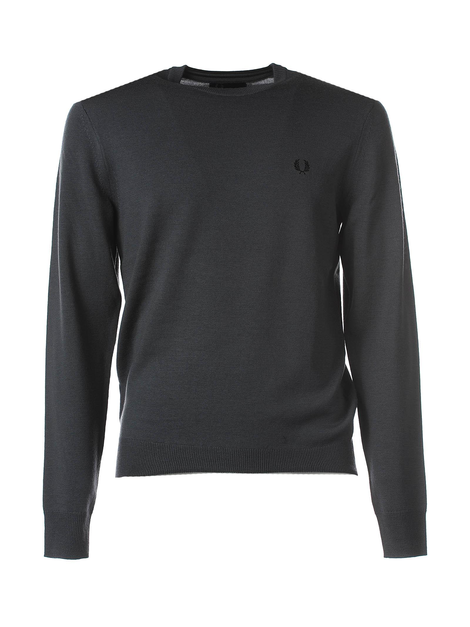 Fred Perry Grey Wool Jumper