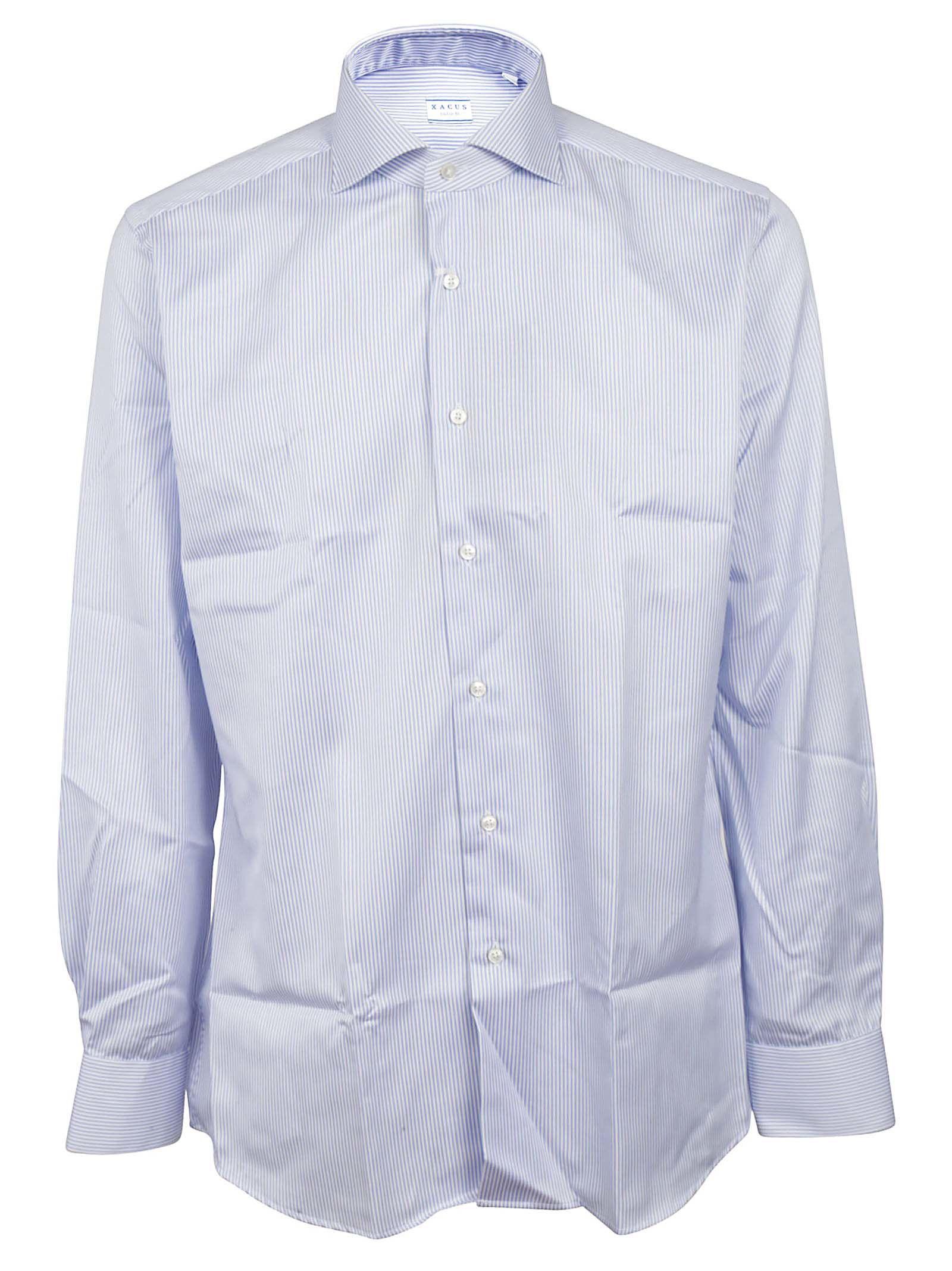 XACUS Pinstripe Button Down Shirt in 004