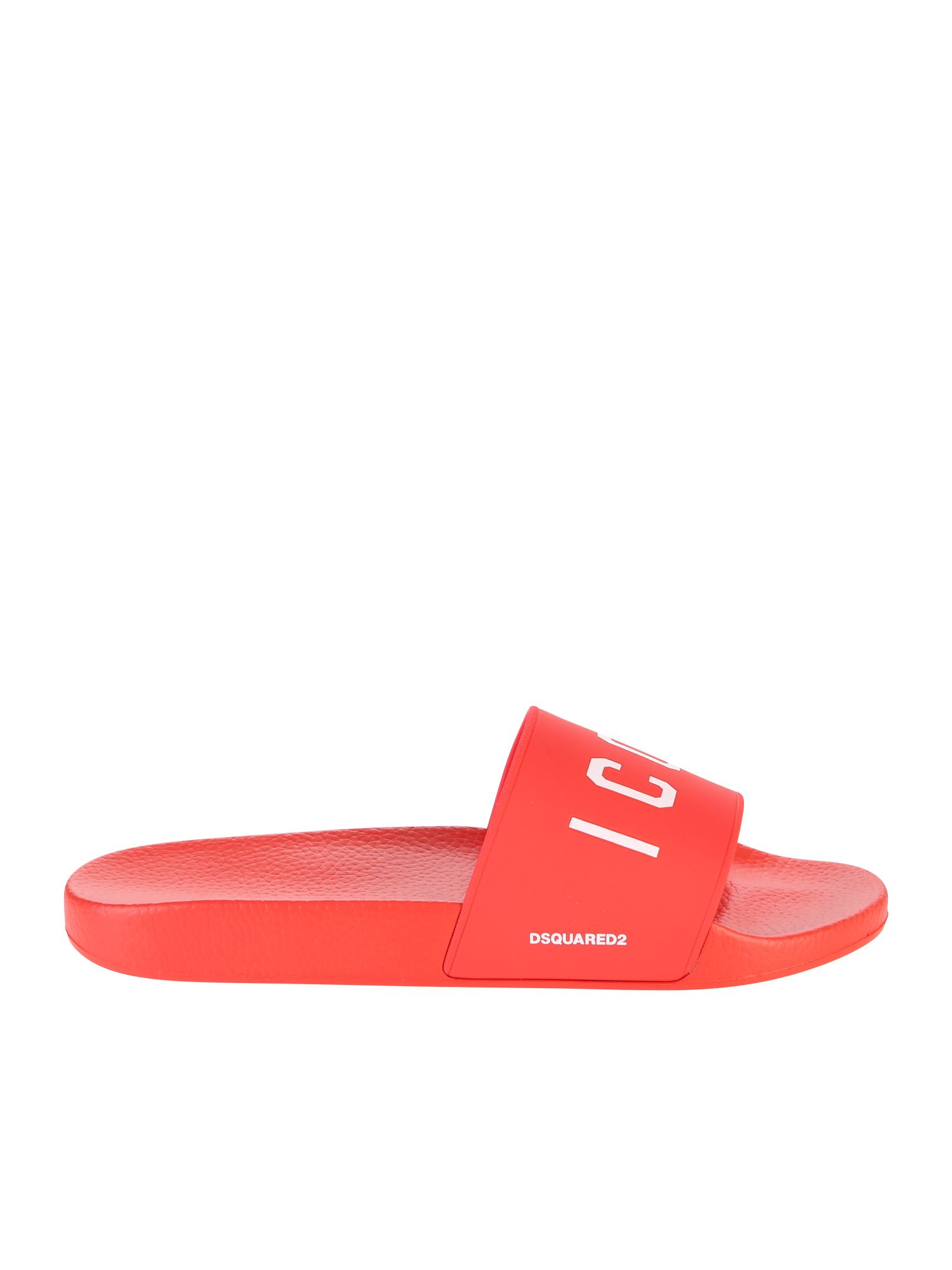 Dsquared2 Red Icon Slide Sandals