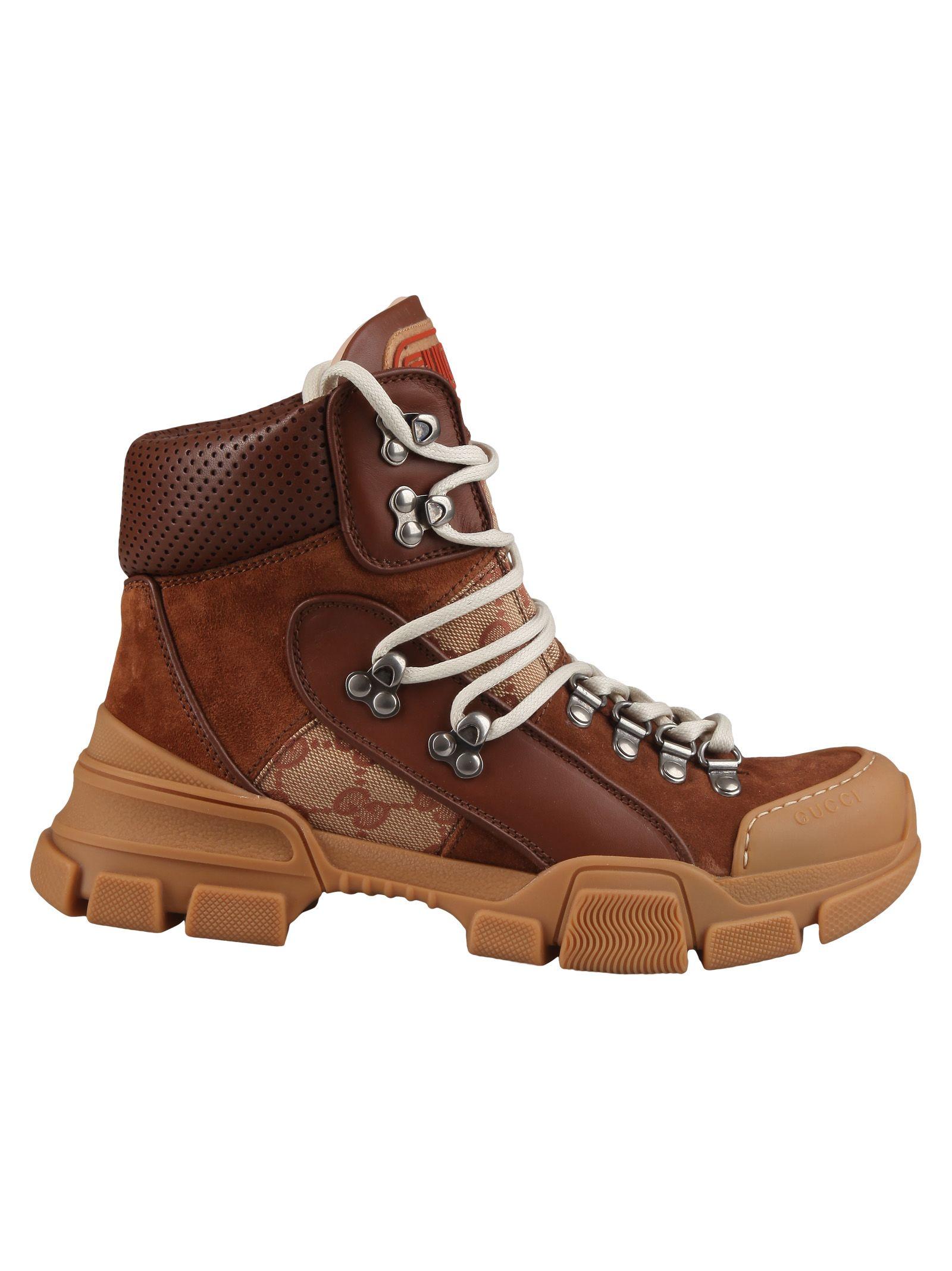 gucci -  Logo Hiking Boots