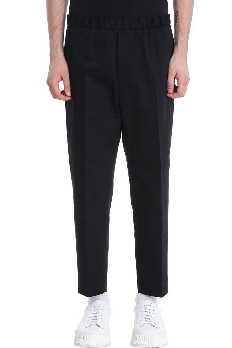Jil Sander Black Cotton Pants