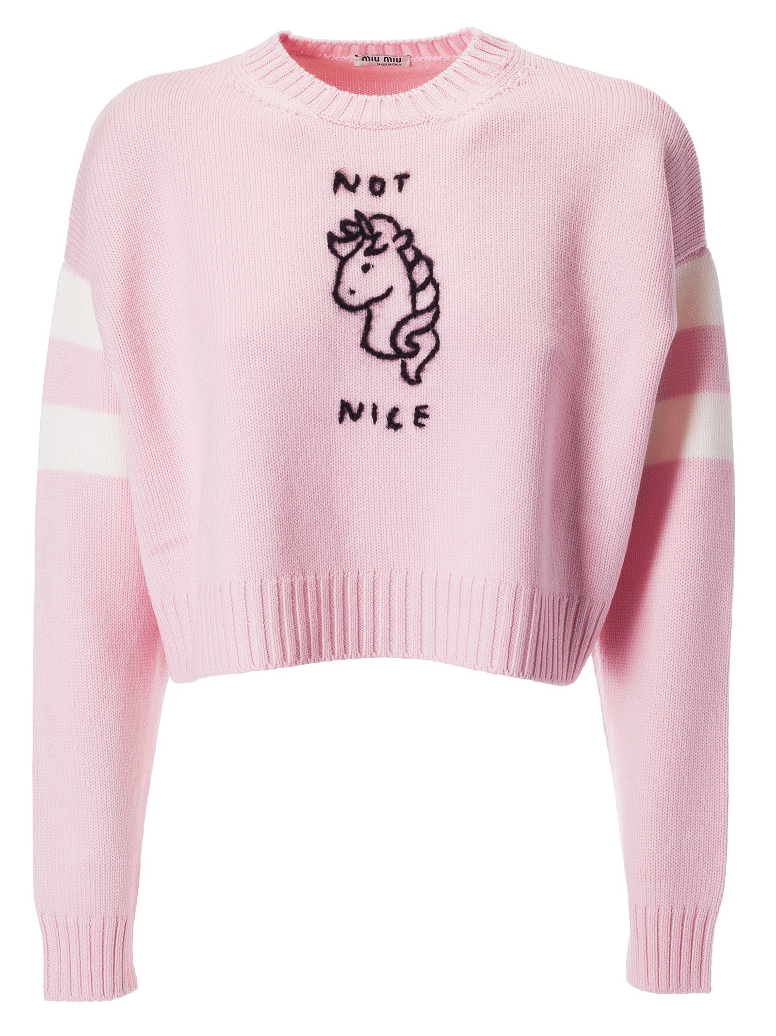Miu Miu Not Nice Embroidered Sweater